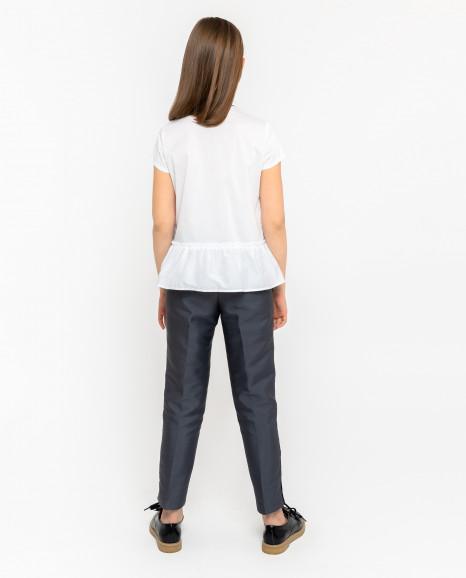 Белая блузка с баской Gulliver
