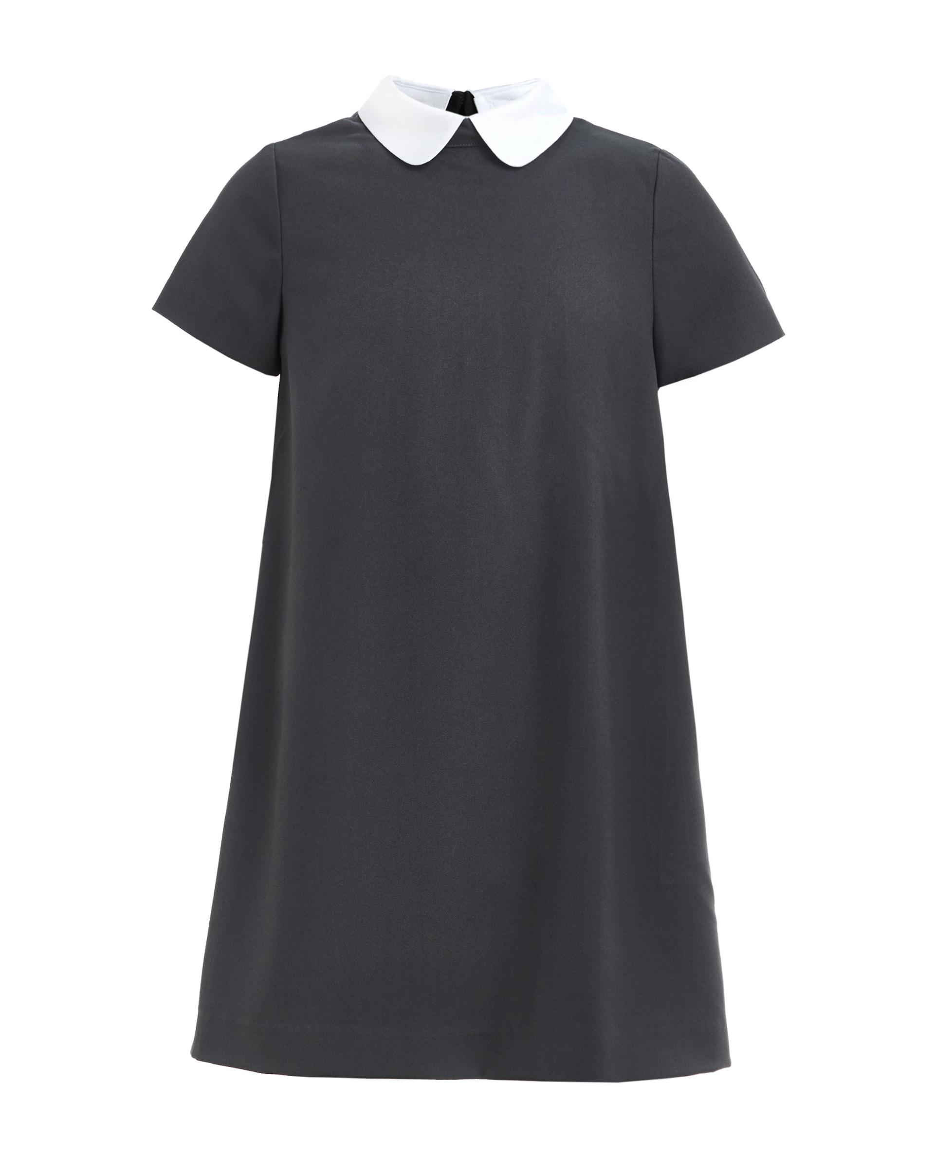 Купить 219GSGC2506, Серое платье со съемным воротничком Gulliver, серый, 146, Женский, ШКОЛЬНАЯ ФОРМА 2019-2020 (shop: GulliverMarket Gulliver Market)