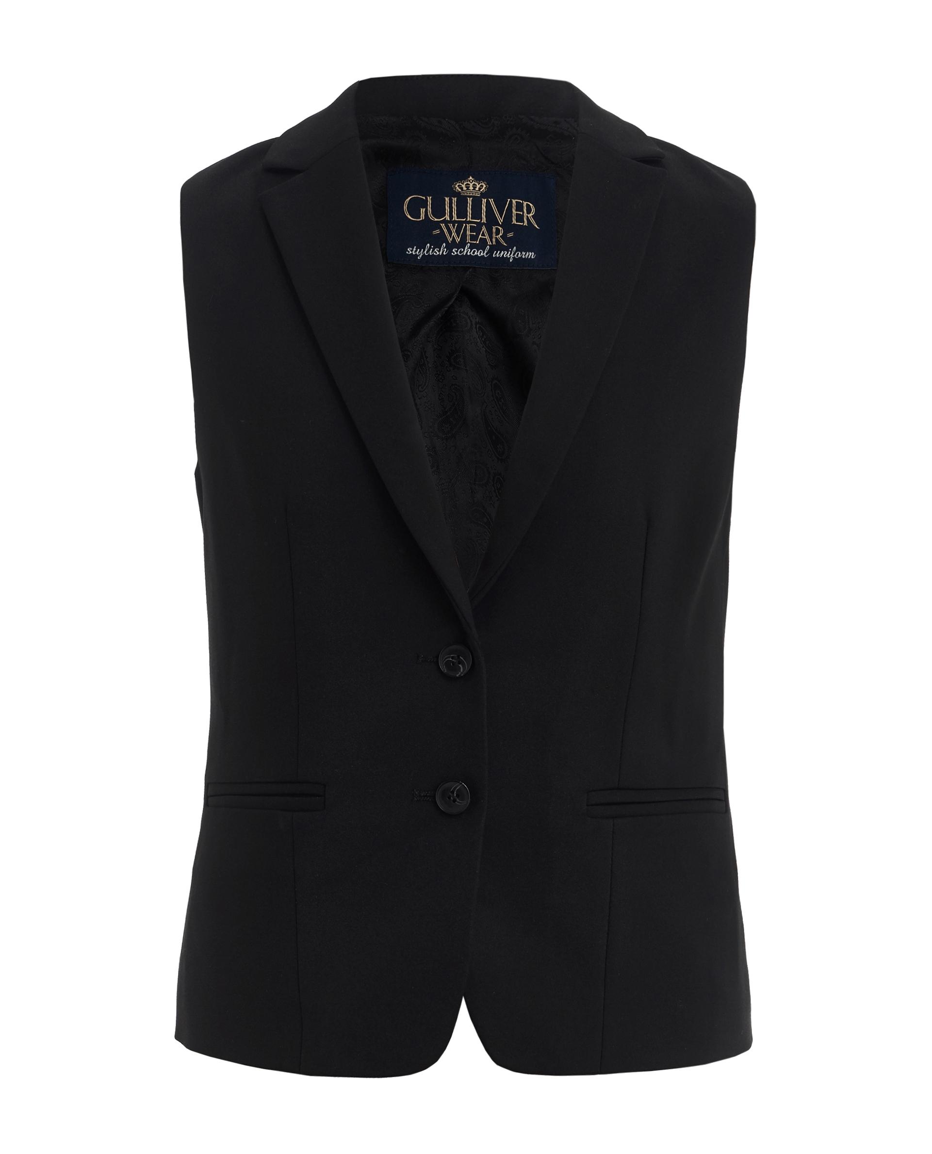 Купить 219GSGC4701, Черный жилет Gulliver, черный, 158, Женский, ШКОЛЬНАЯ ФОРМА 2019-2020 (shop: GulliverMarket Gulliver Market)