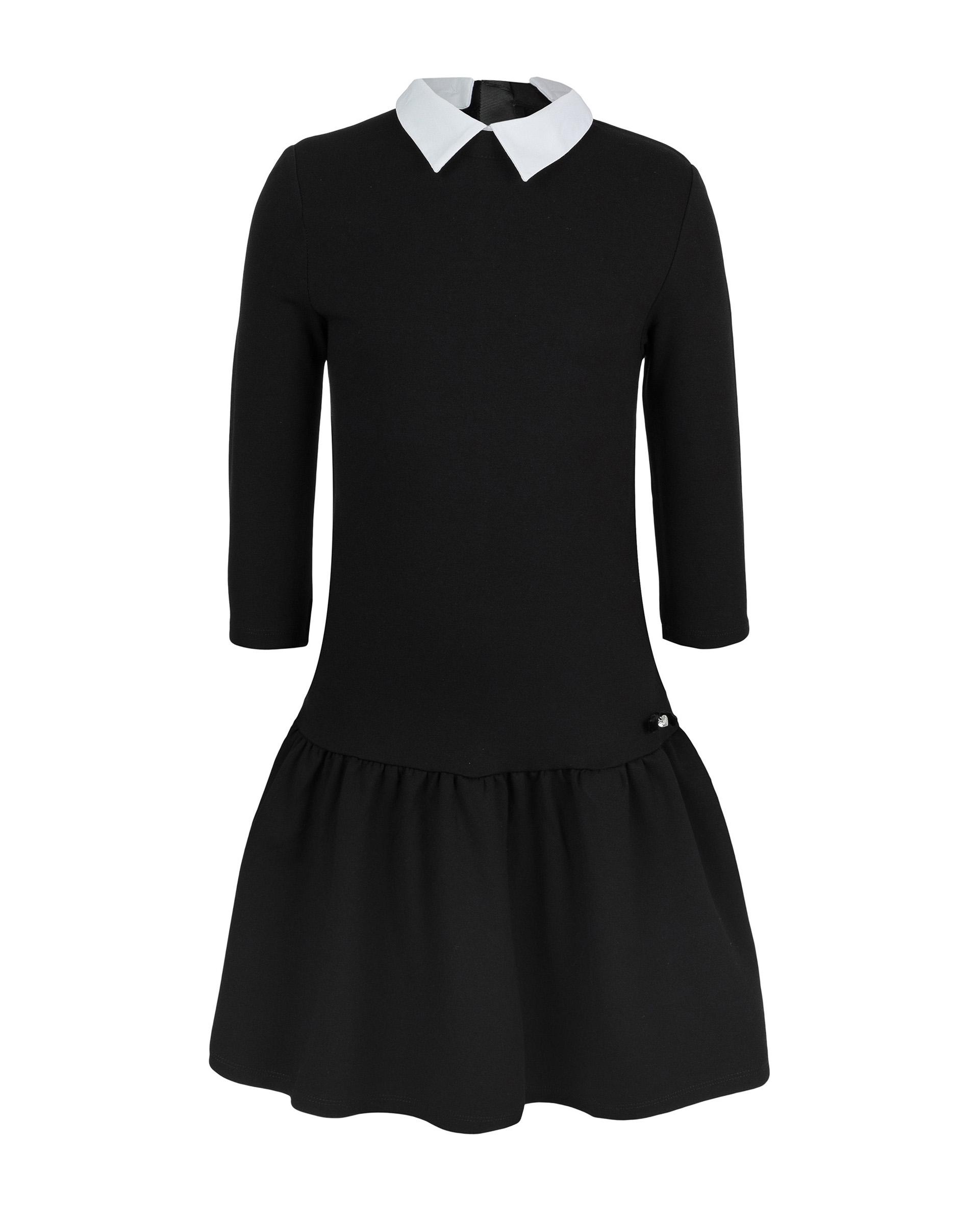 Купить 219GSGC5001, Черное платье Gulliver, черный, 146, Женский, ШКОЛЬНАЯ ФОРМА 2019-2020 (shop: GulliverMarket Gulliver Market)