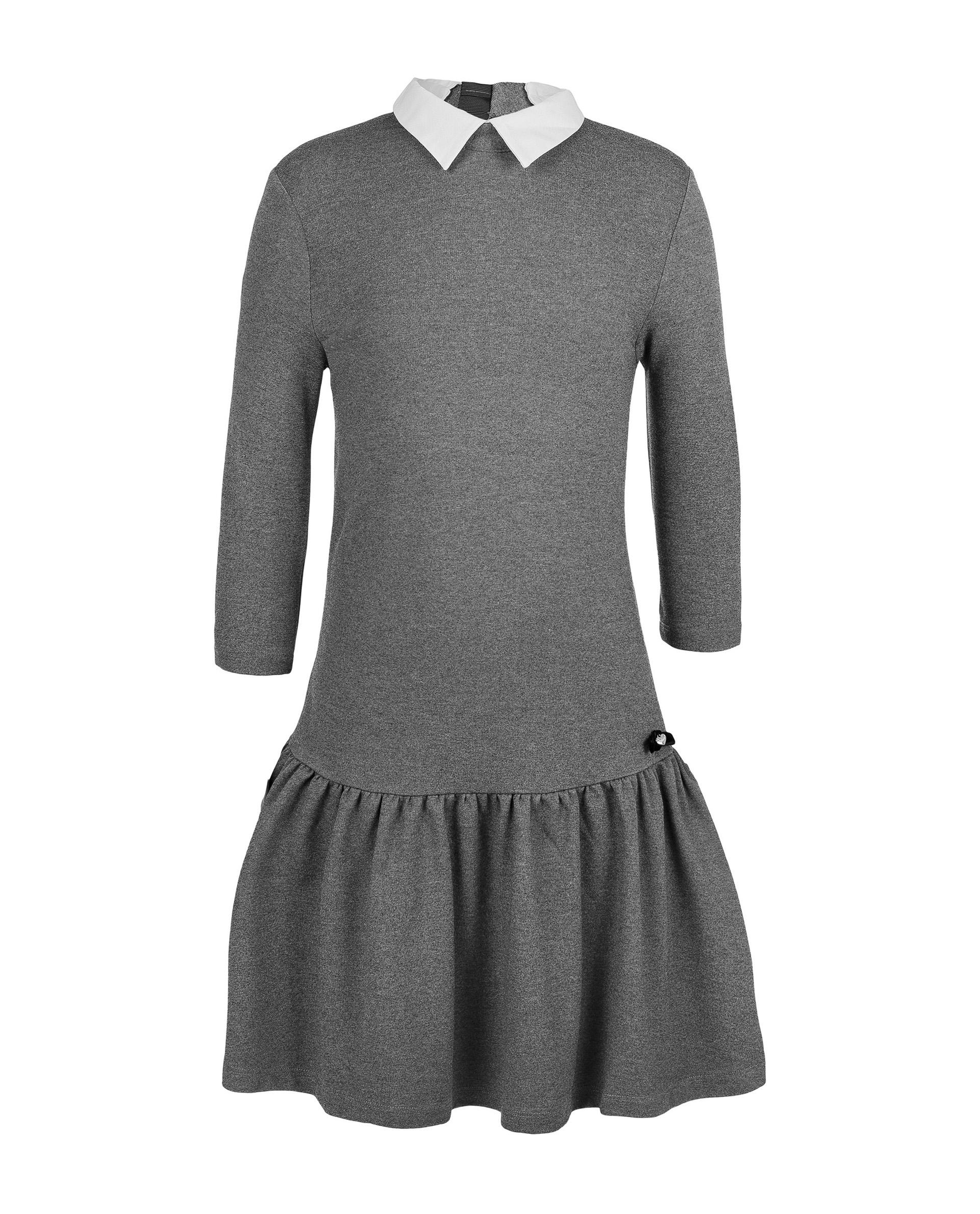 Купить 219GSGC5003, Серое платье Gulliver, серый, 146, Женский, ШКОЛЬНАЯ ФОРМА 2019-2020 (shop: GulliverMarket Gulliver Market)