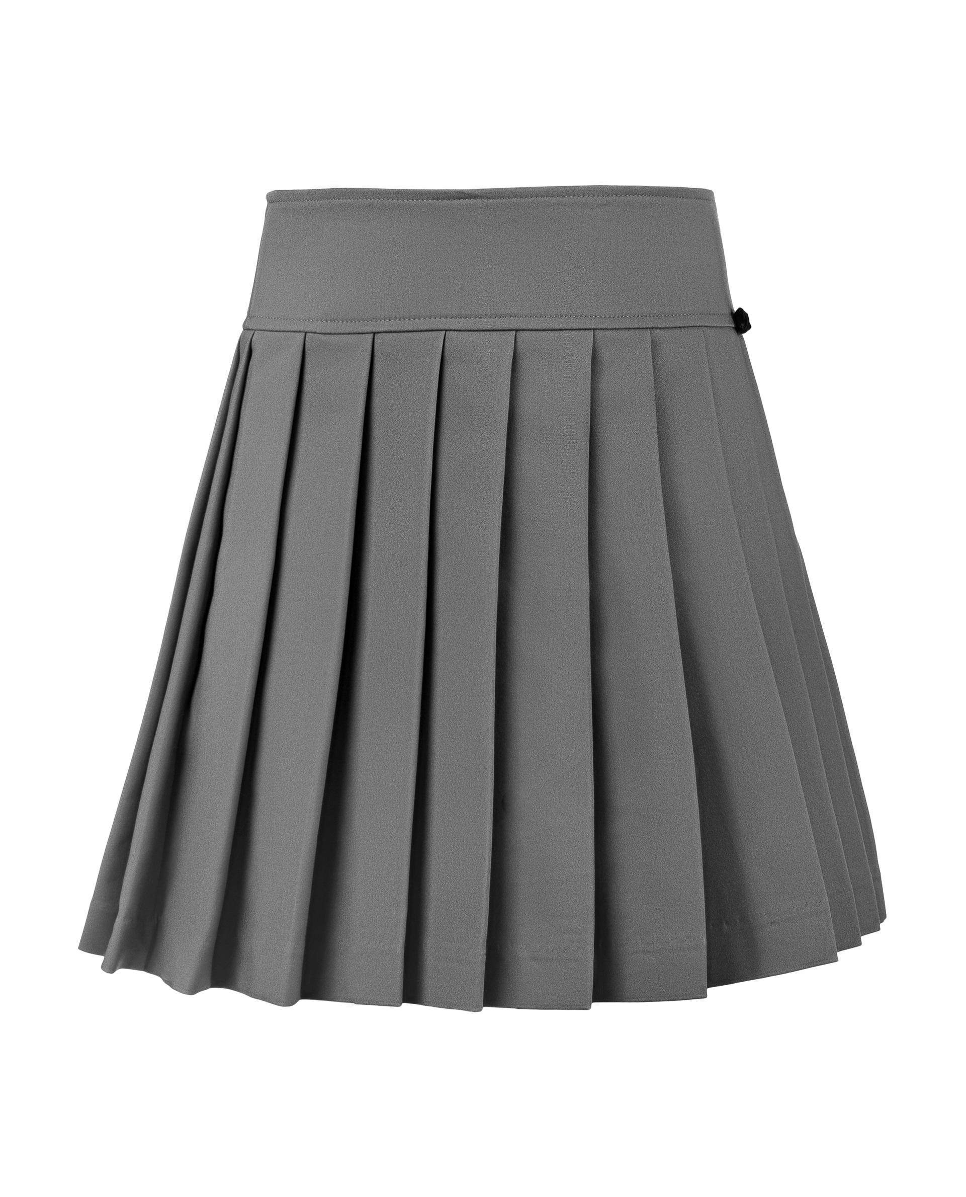 Серая юбка в складку Gulliver 219GSGC6103 серого цвета
