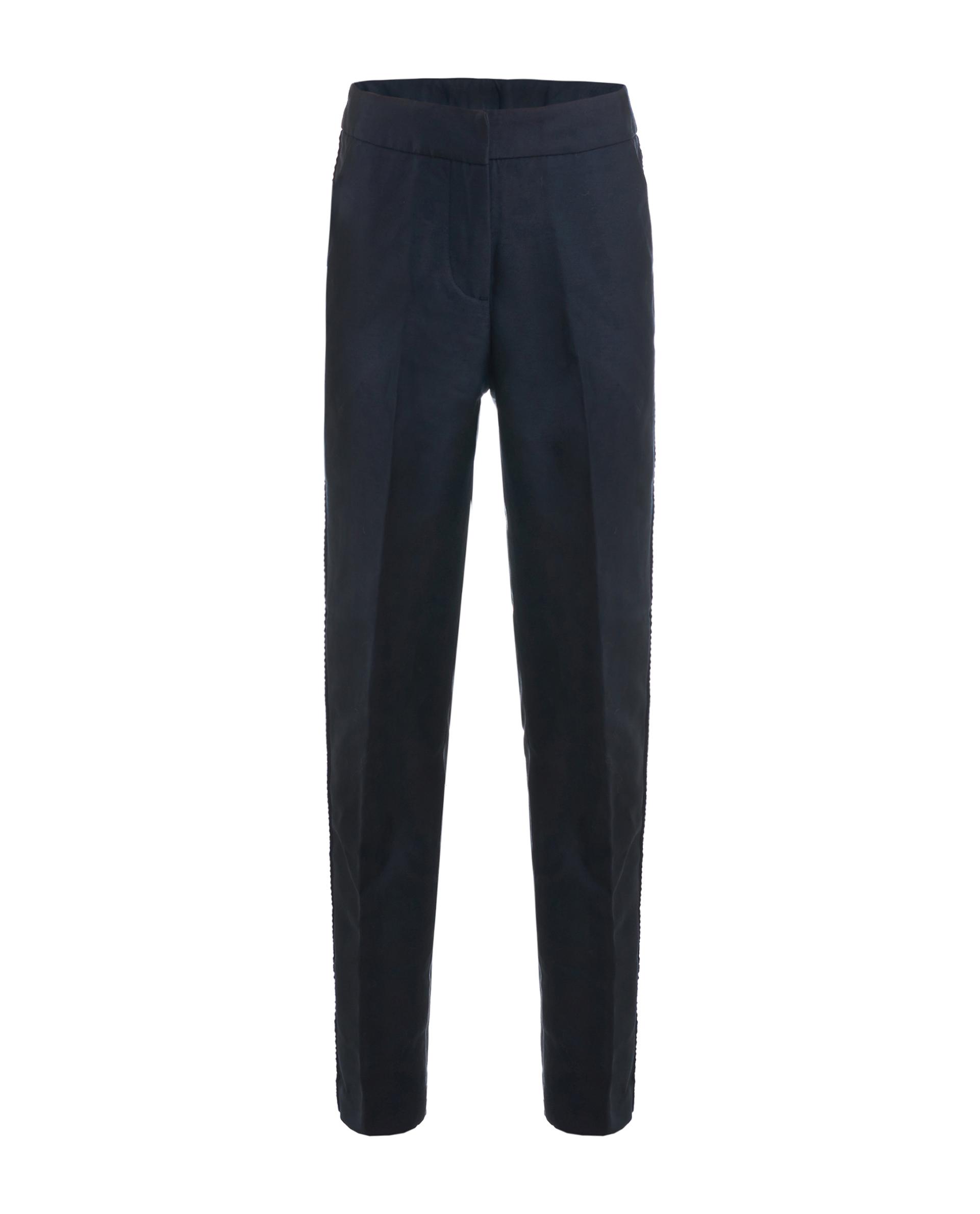 Купить 219GSGC6302, Синие брюки с лампасами Gulliver, синий, 128, Женский, ШКОЛЬНАЯ ФОРМА 2019-2020 (shop: GulliverMarket Gulliver Market)