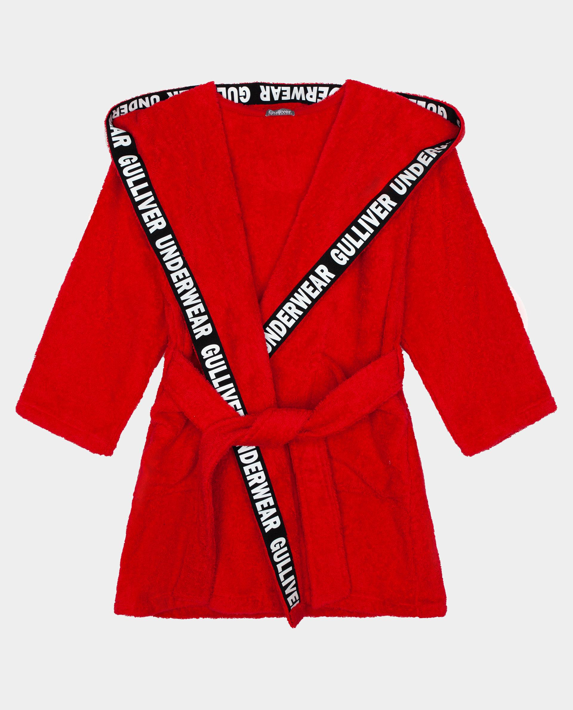 Купить 22000GC9501, Красный халат Gulliver, красный, 134-140, Хлопок, Женский, ОСЕНЬ/ЗИМА 2020-2021 (shop: GulliverMarket Gulliver Market)