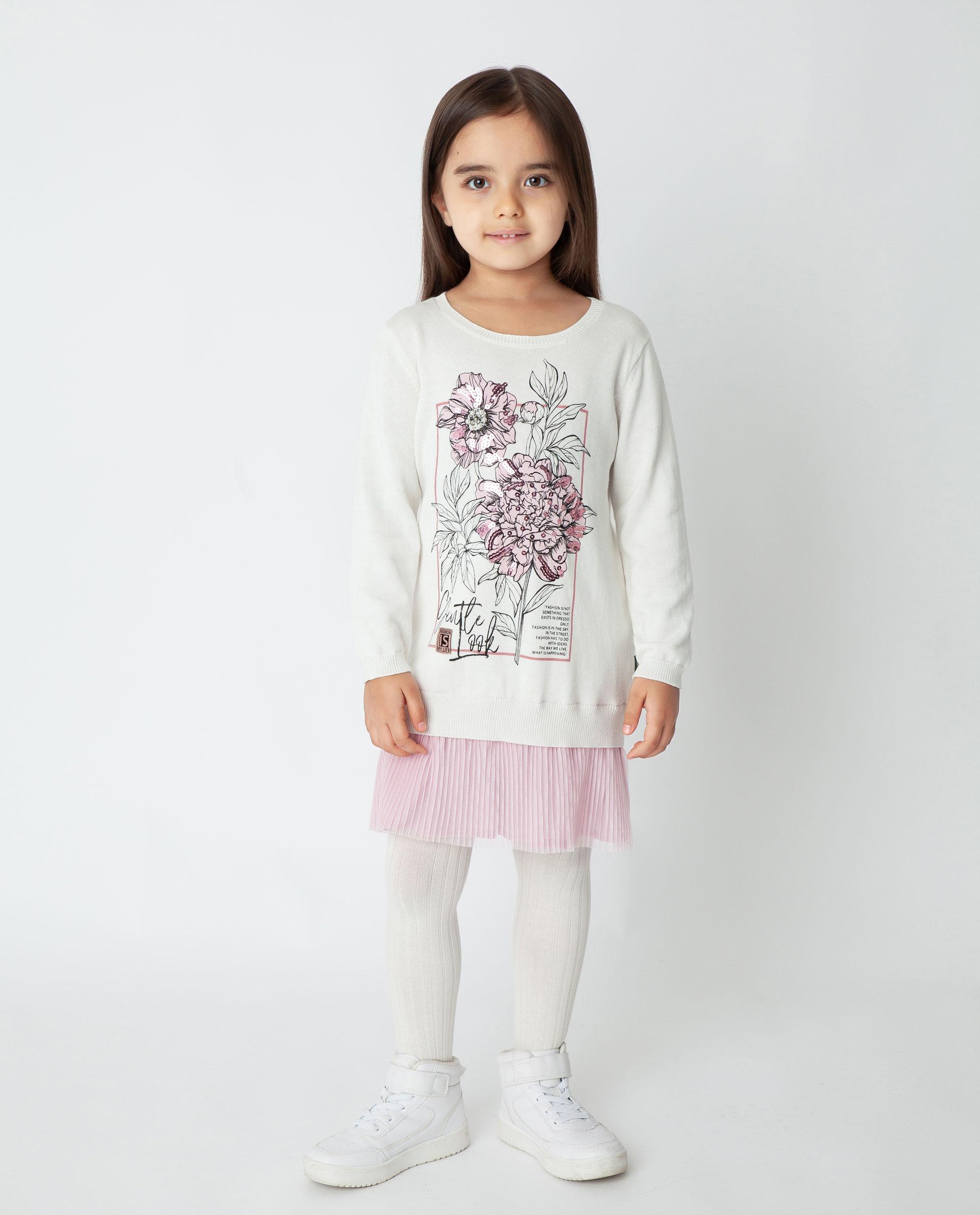 Купить 22001GMC3601, Белое платье Gulliver, белый, 116, Вискоза, Женский, Демисезон, ОСЕНЬ/ЗИМА 2020-2021 (shop: GulliverMarket Gulliver Market)