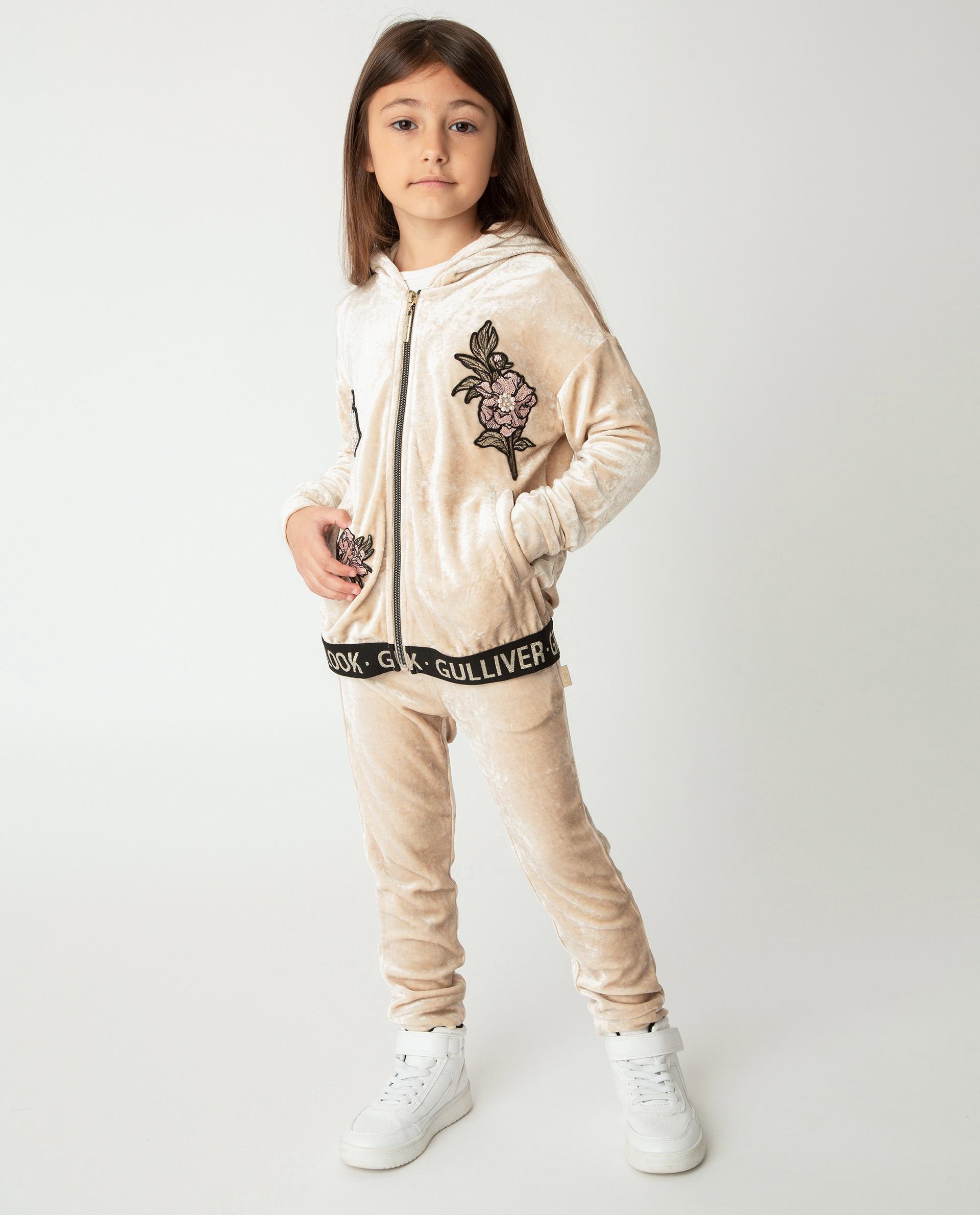 Бежевые брюки Gulliver 22001GMC5603 бежевого цвета
