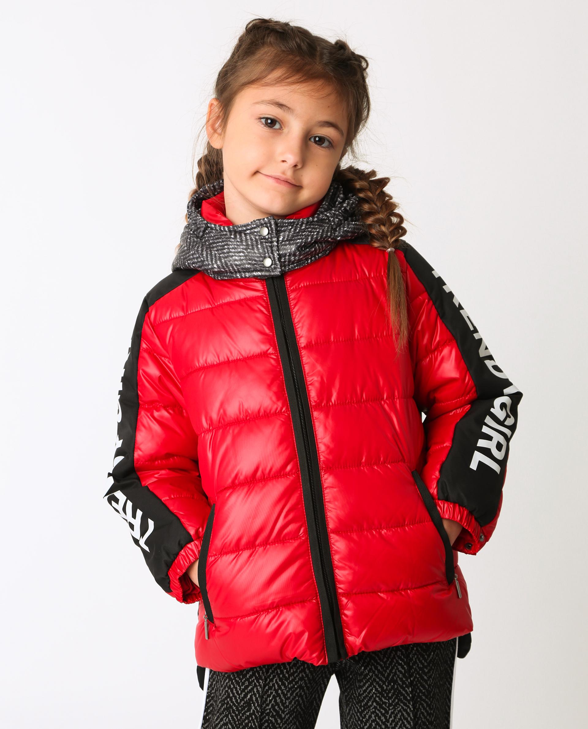 Красная куртка демисезонная Gulliver 22002GMC4102 красного цвета