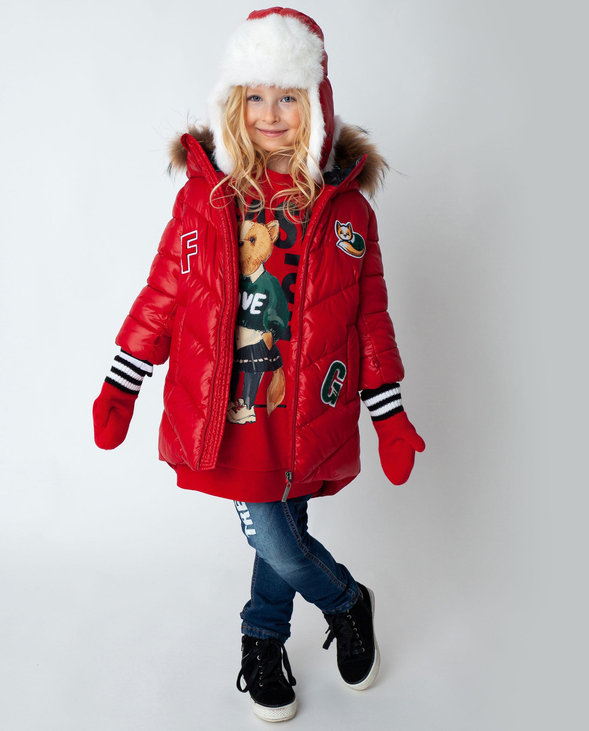 Купить 22002GMC4502, Красное пальто зимнее Gulliver, красный, 98, Полиэстер, Женский, Зима, ОСЕНЬ/ЗИМА 2020-2021 (shop: GulliverMarket Gulliver Market)