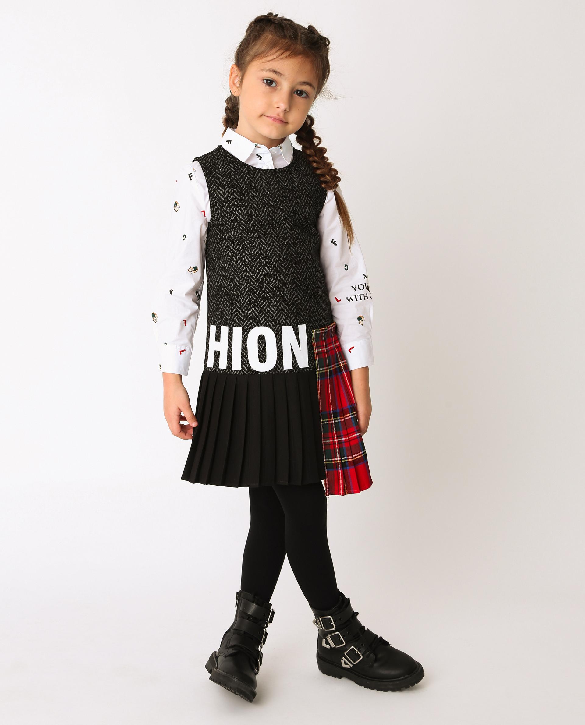 Купить 22002GMC5002, Черное платье Gulliver, черный, 116, Вискоза, Женский, Демисезон, ОСЕНЬ/ЗИМА 2020-2021 (shop: GulliverMarket Gulliver Market)