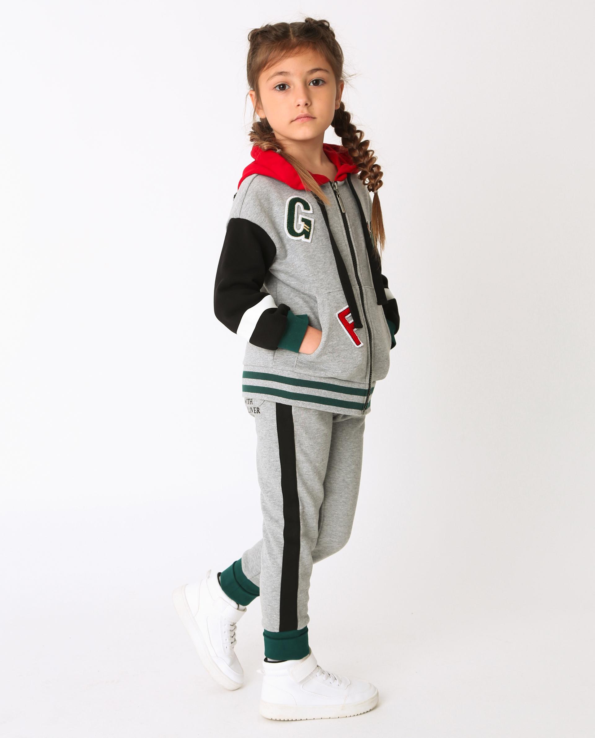Купить 22002GMC5601, Серые брюки Gulliver, серый, 104, Футер, Женский, Демисезон, ОСЕНЬ/ЗИМА 2020-2021 (shop: GulliverMarket Gulliver Market)