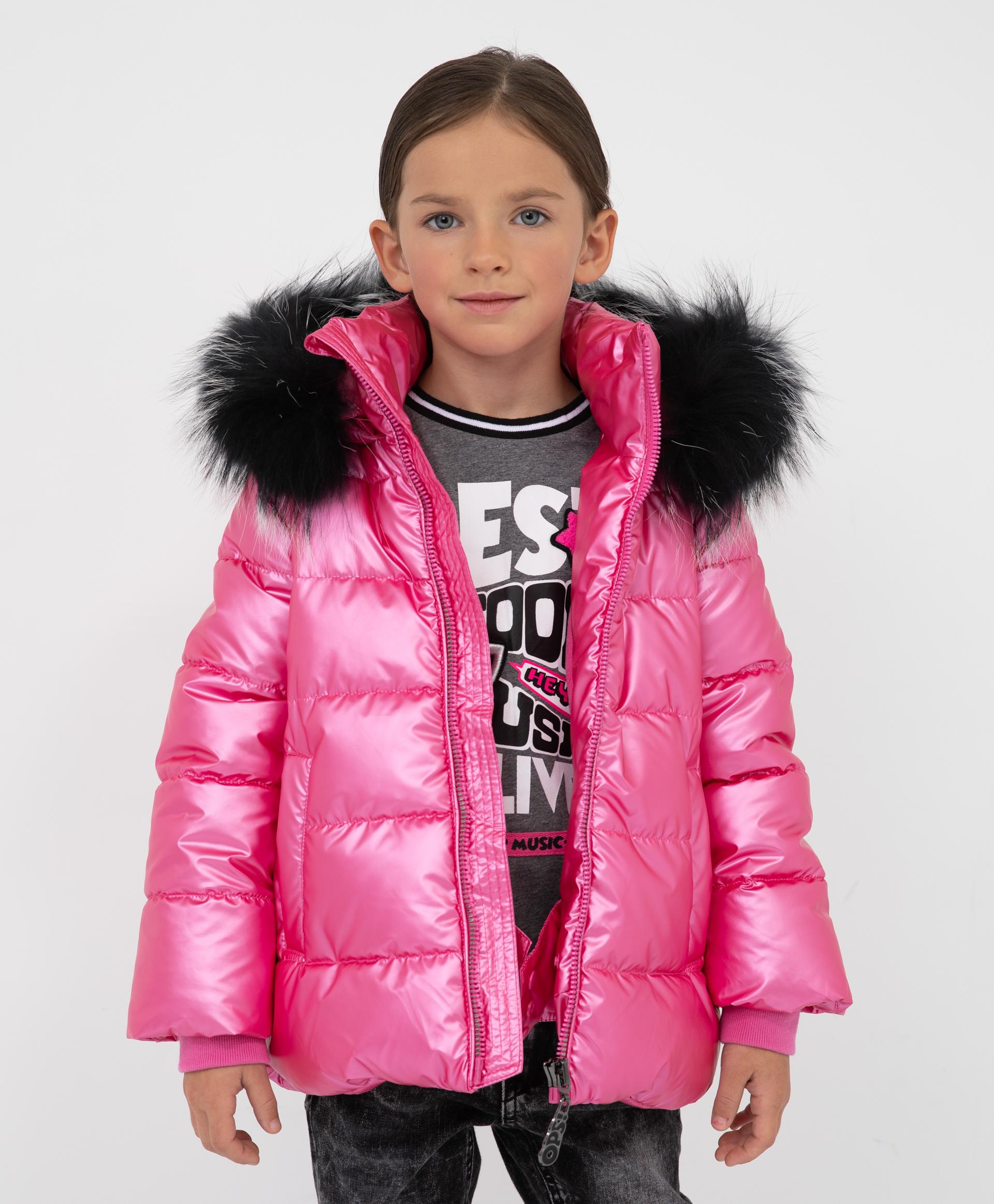 Купить 22003GMC4109, Куртка зимняя с капюшоном Gulliver, розовый, 128, Полиэстер, Женский, Зима, ОСЕНЬ/ЗИМА 2021-2022 (shop: GulliverMarket Gulliver Market)