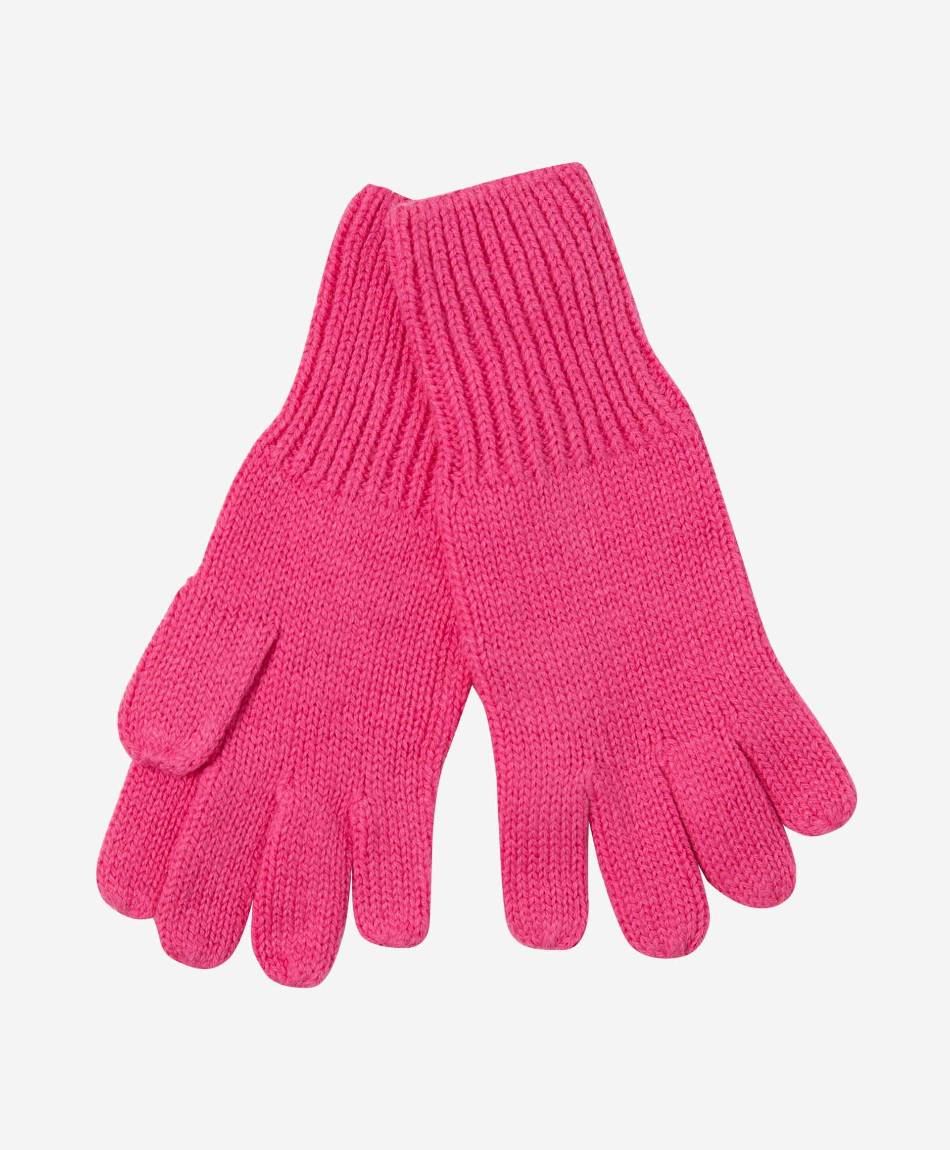 Перчатки вязаные розовые Gulliver 22003GMC7604