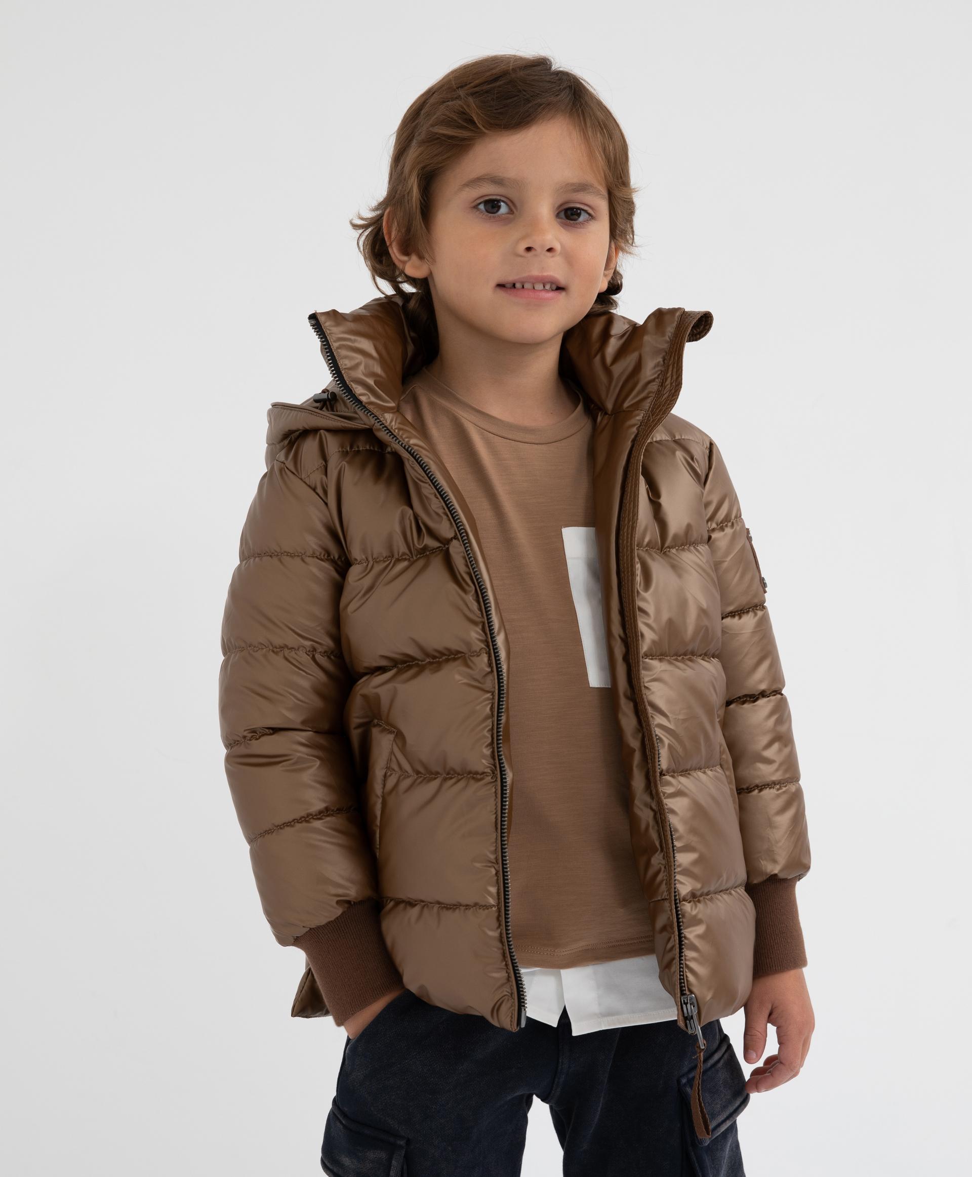 Купить 22004BMC4109, Коричневая куртка демисезонная Gulliver, коричневый, 128, Полиэстер, Мужской, Демисезон, ОСЕНЬ/ЗИМА 2020-2021 (shop: GulliverMarket Gulliver Market)