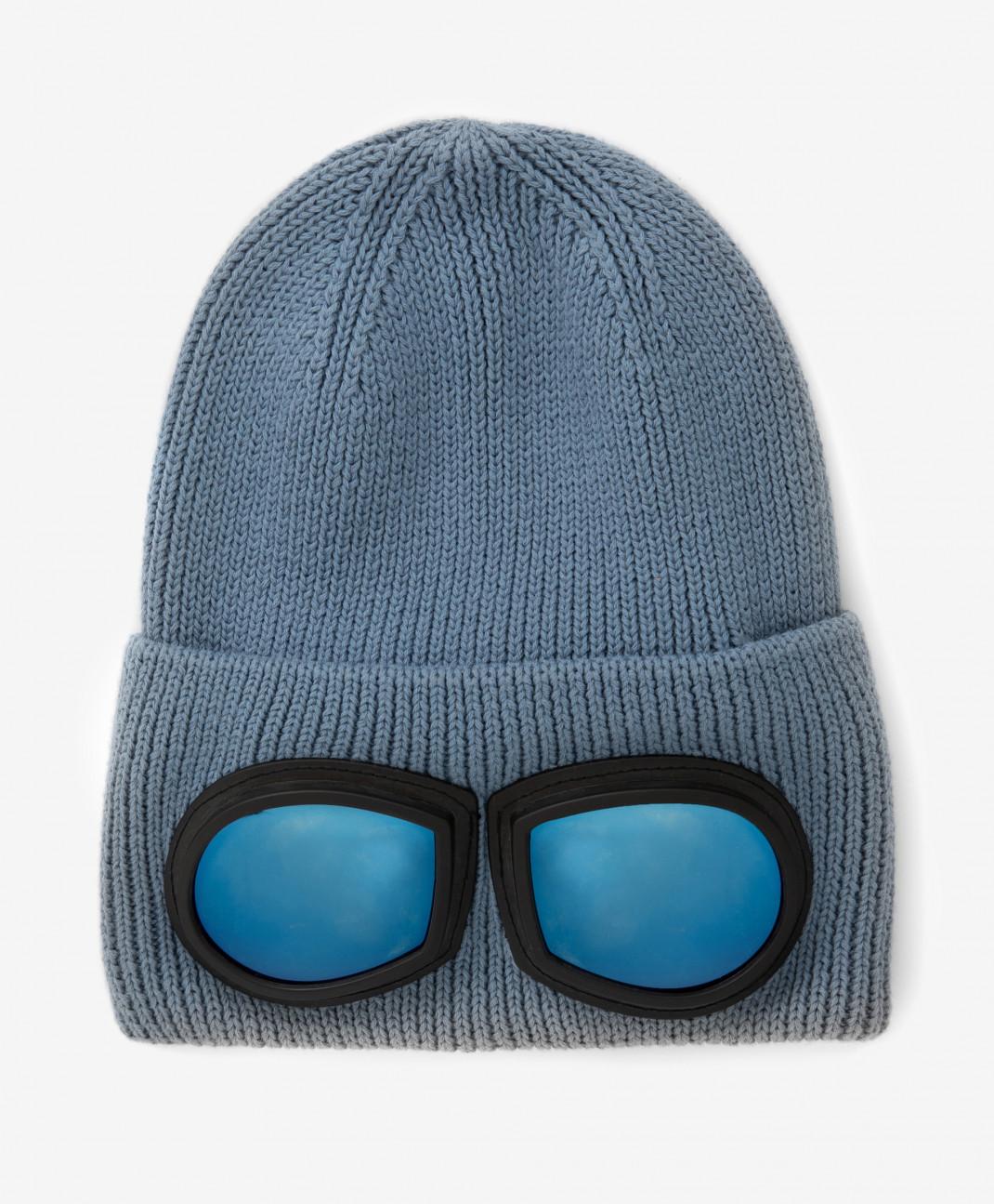 Gulliver Шапка вязаная с очками на отвороте Gulliver