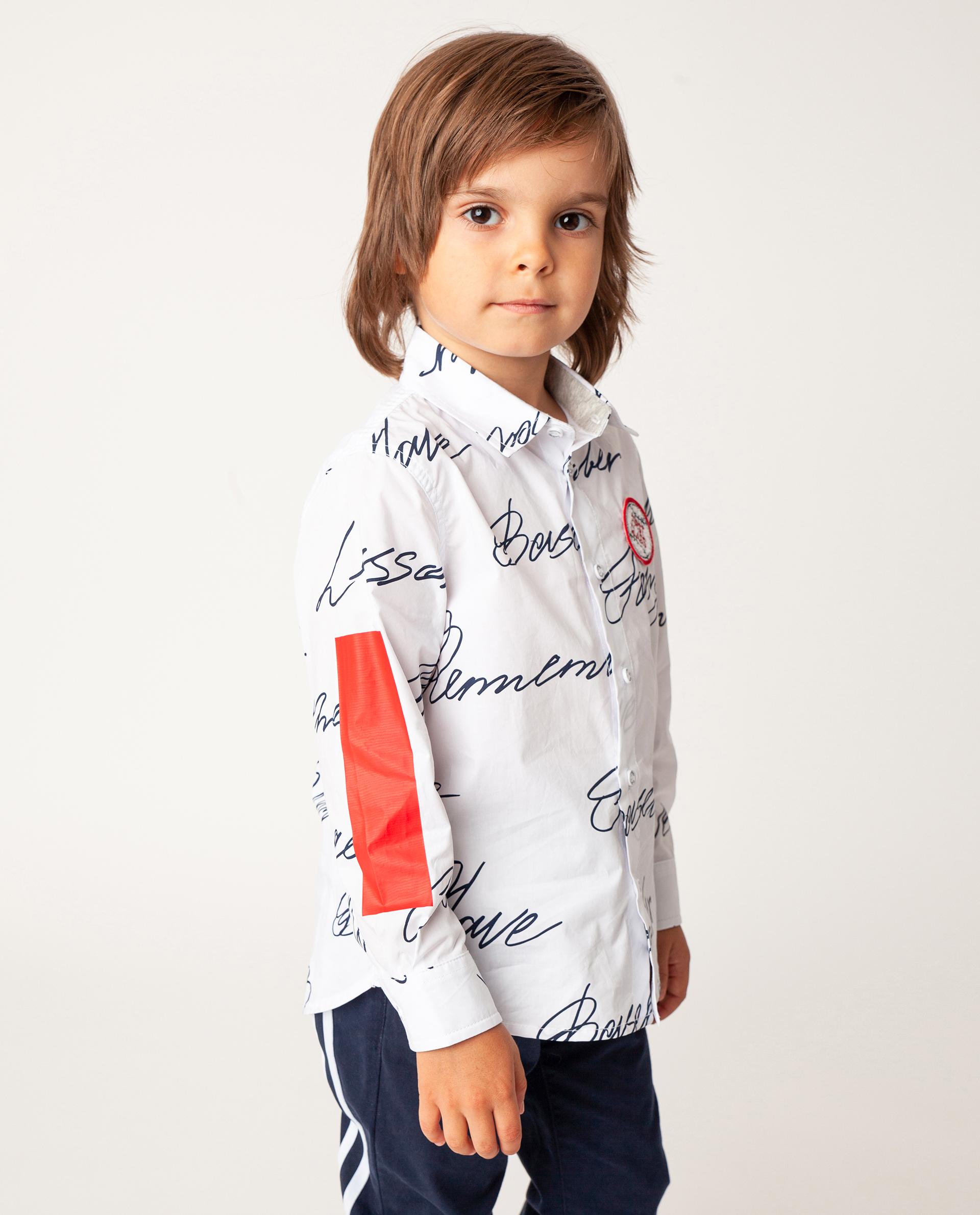 Купить 22005BMC2301, Белая рубашка с длинным рукавом Gulliver, белый, 110, Хлопок, Мужской, Демисезон, ОСЕНЬ/ЗИМА 2020-2021 (shop: GulliverMarket Gulliver Market)
