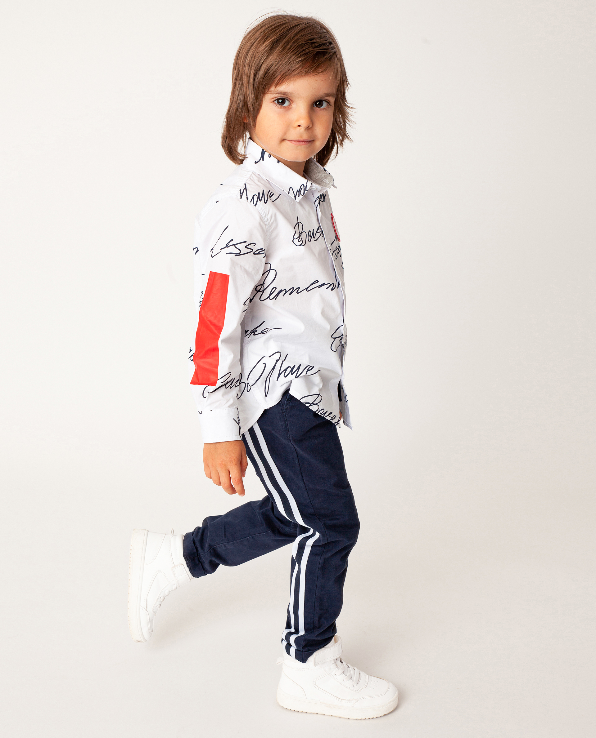 Купить 22005BMC6304, Синие брюки Gulliver, синий, 104, Футер, Мужской, Демисезон, ОСЕНЬ/ЗИМА 2020-2021 (shop: GulliverMarket Gulliver Market)
