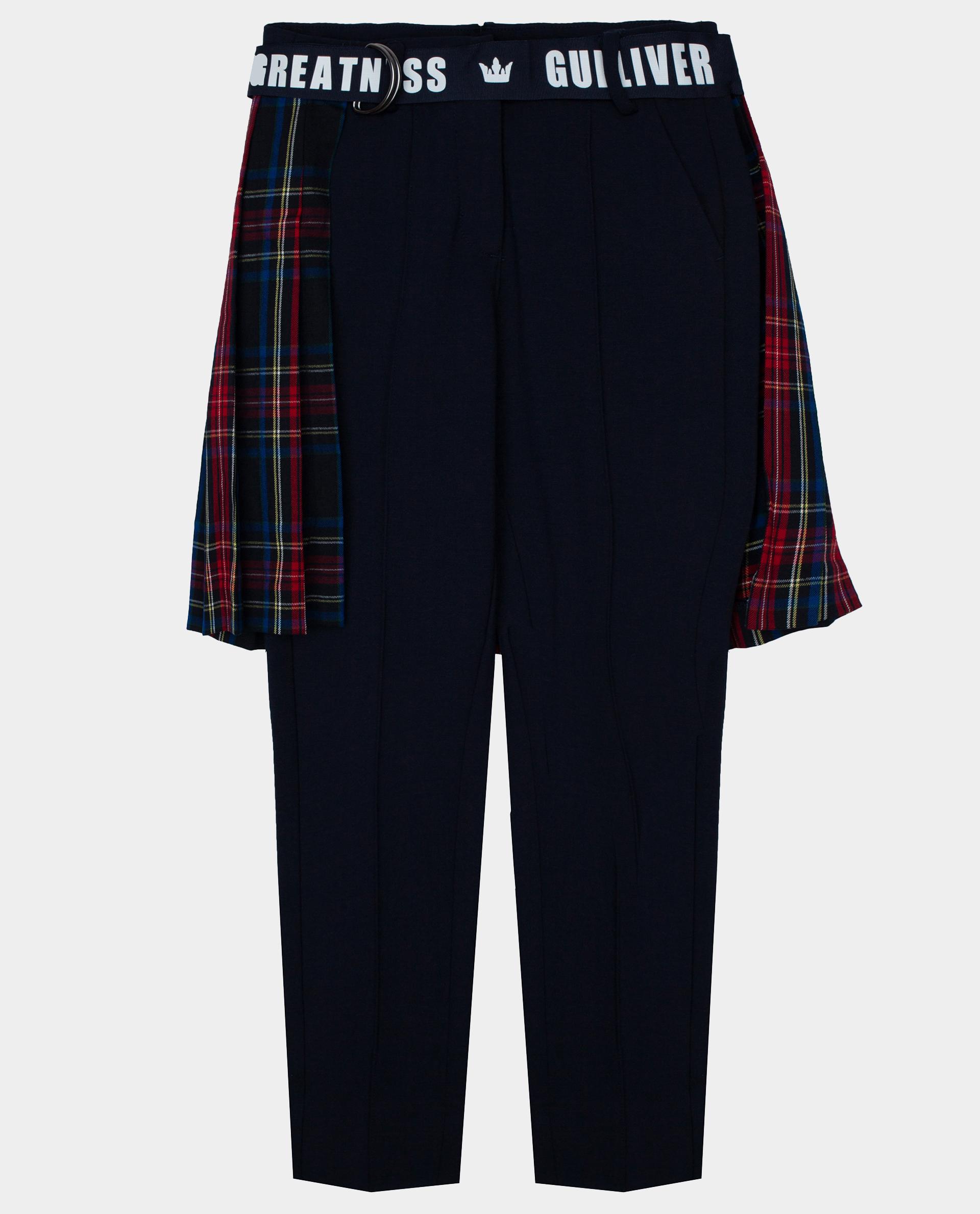 Купить 22007GJC5603, Синие брюки Gulliver, синий, 134, Вискоза, Женский, Демисезон, ОСЕНЬ/ЗИМА 2020-2021 (shop: GulliverMarket Gulliver Market)