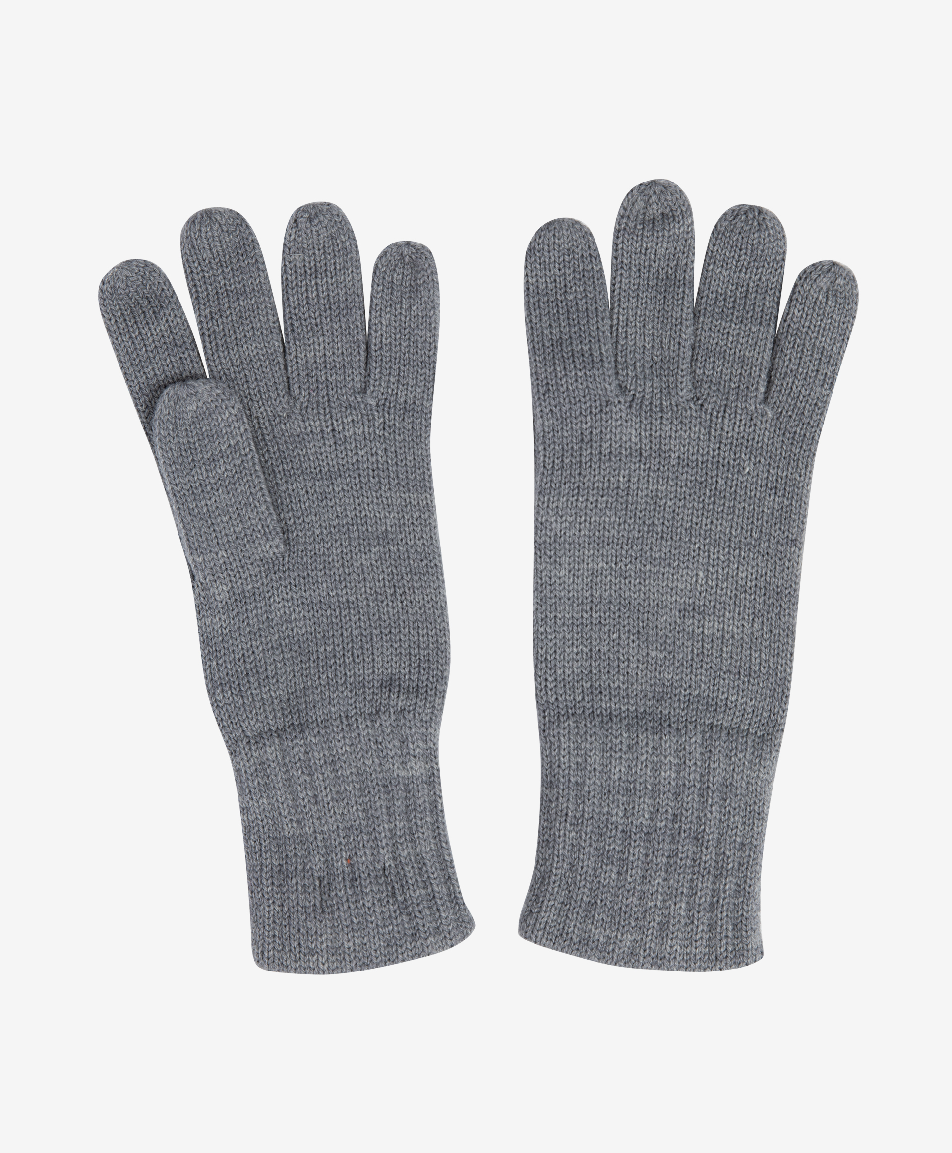 Перчатки вязаные серые Gulliver 22007GJC7603