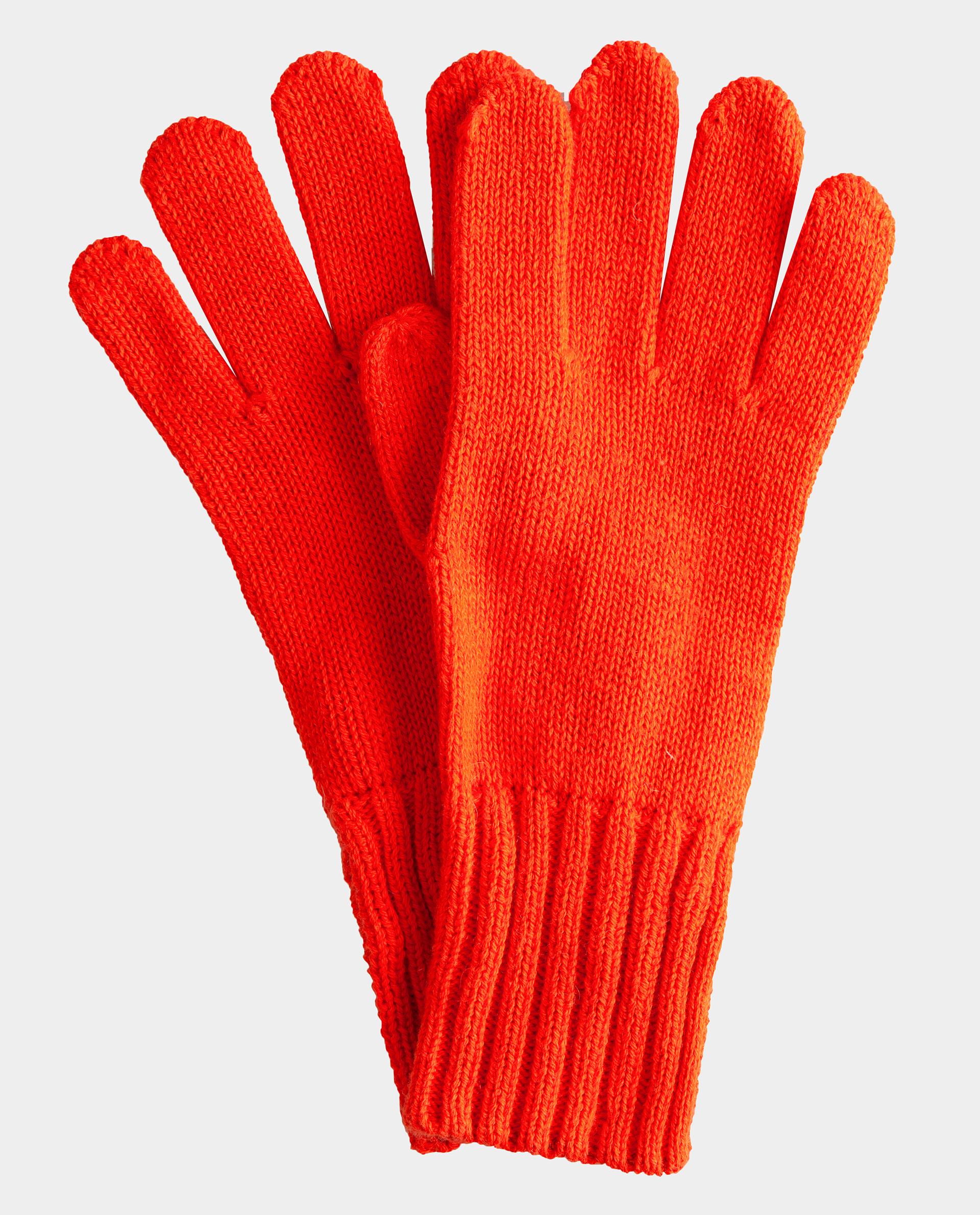 Оранжевые перчатки вязаные Gulliver