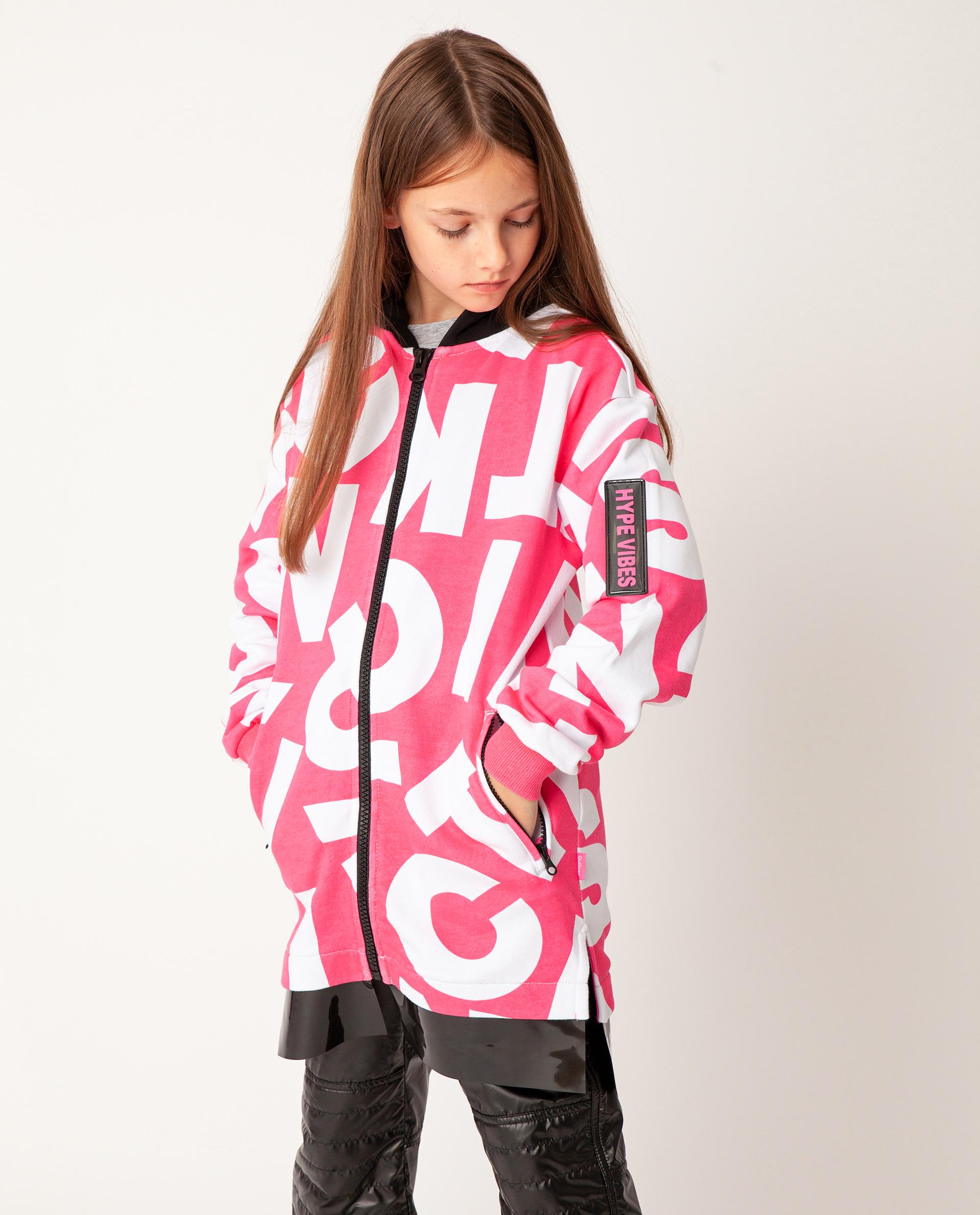 Купить 22009GJC1602, Розовая толстовка Gulliver, розовый, 170, Футер, Женский, Демисезон, ОСЕНЬ/ЗИМА 2020-2021 (shop: GulliverMarket Gulliver Market)