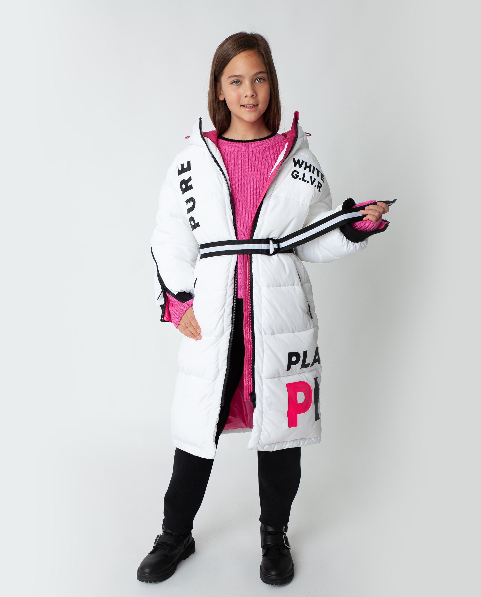 Купить 22009GJC4502, Белое пальто зимнее Gulliver, белый, 170, Полиэстер, Женский, Зима, ОСЕНЬ/ЗИМА 2020-2021 (shop: GulliverMarket Gulliver Market)