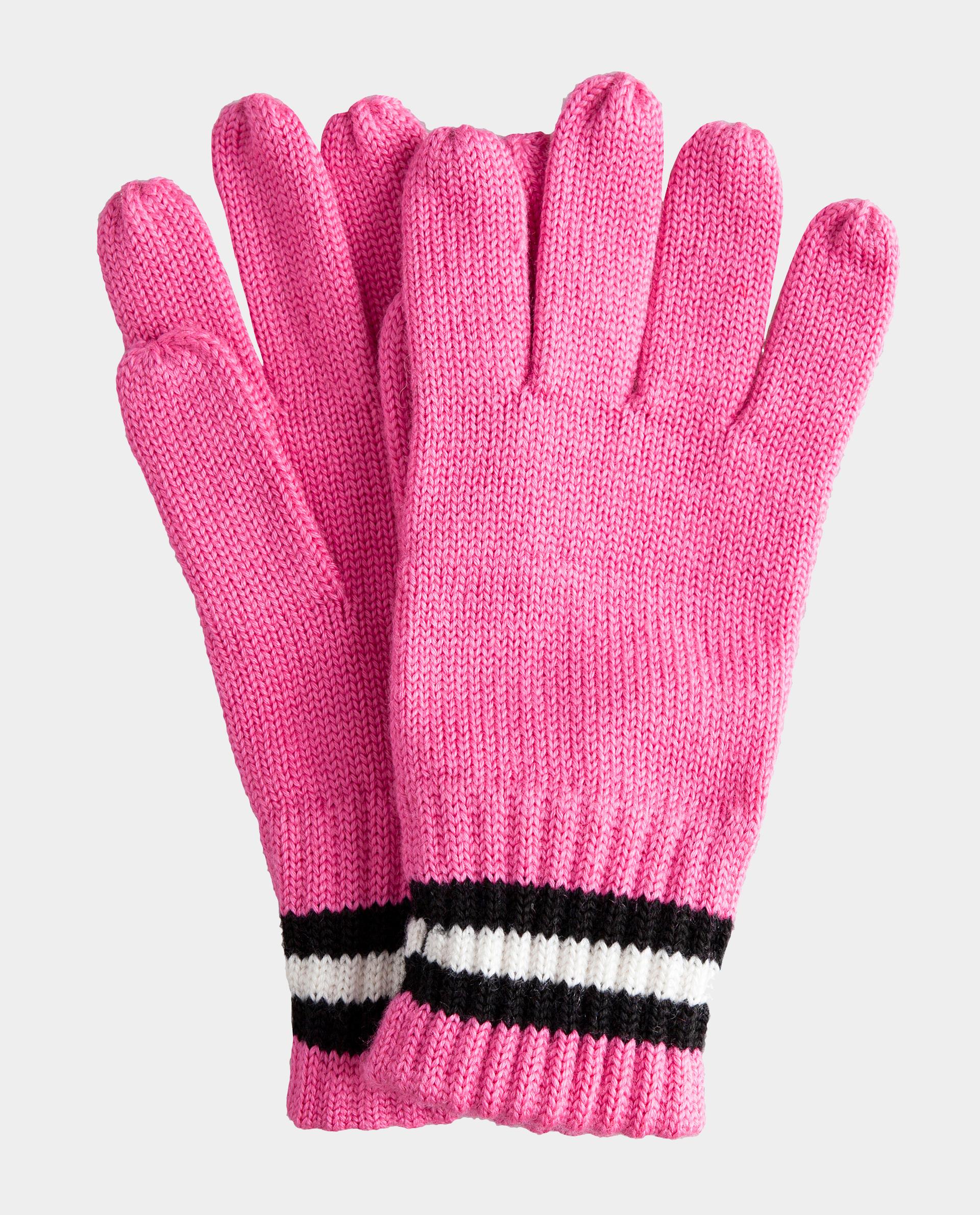 Розовые перчатки вязаные Gulliver