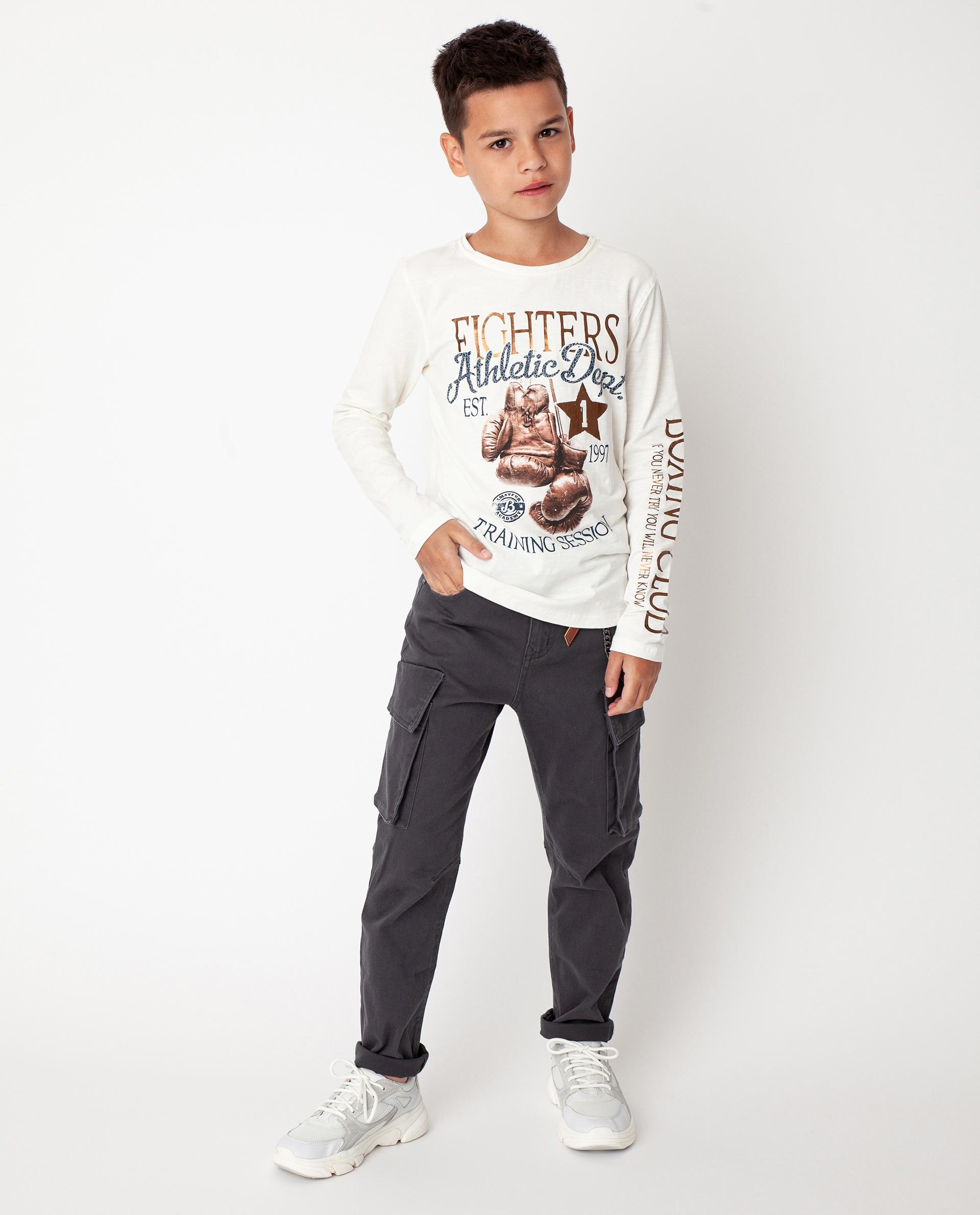 Купить 22010BJC6301, Серые брюки Gulliver, серый, 158, Твил, Мужской, Демисезон, ОСЕНЬ/ЗИМА 2020-2021 (shop: GulliverMarket Gulliver Market)