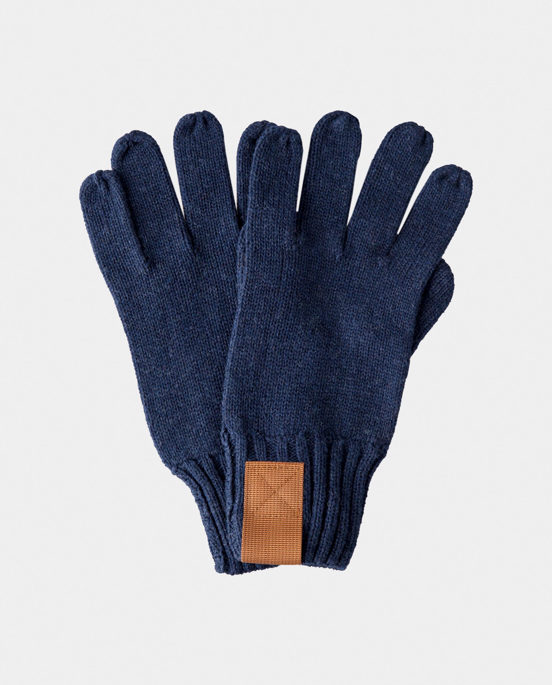 Синие перчатки вязаные Gulliver