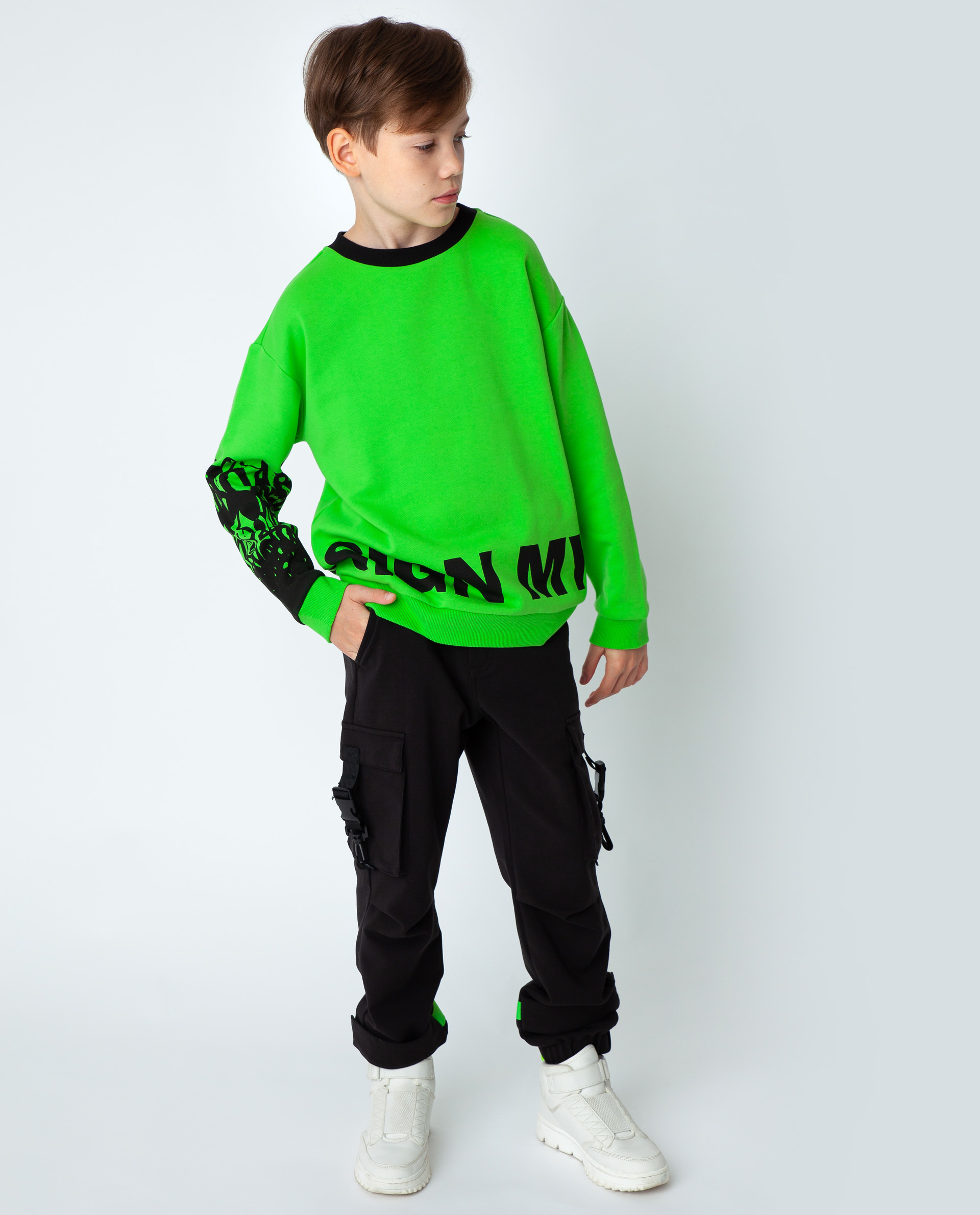Купить 22012BJC1607, Зеленая толстовка Gulliver, зеленый, 170, Футер, Мужской, Демисезон, ОСЕНЬ/ЗИМА 2020-2021 (shop: GulliverMarket Gulliver Market)