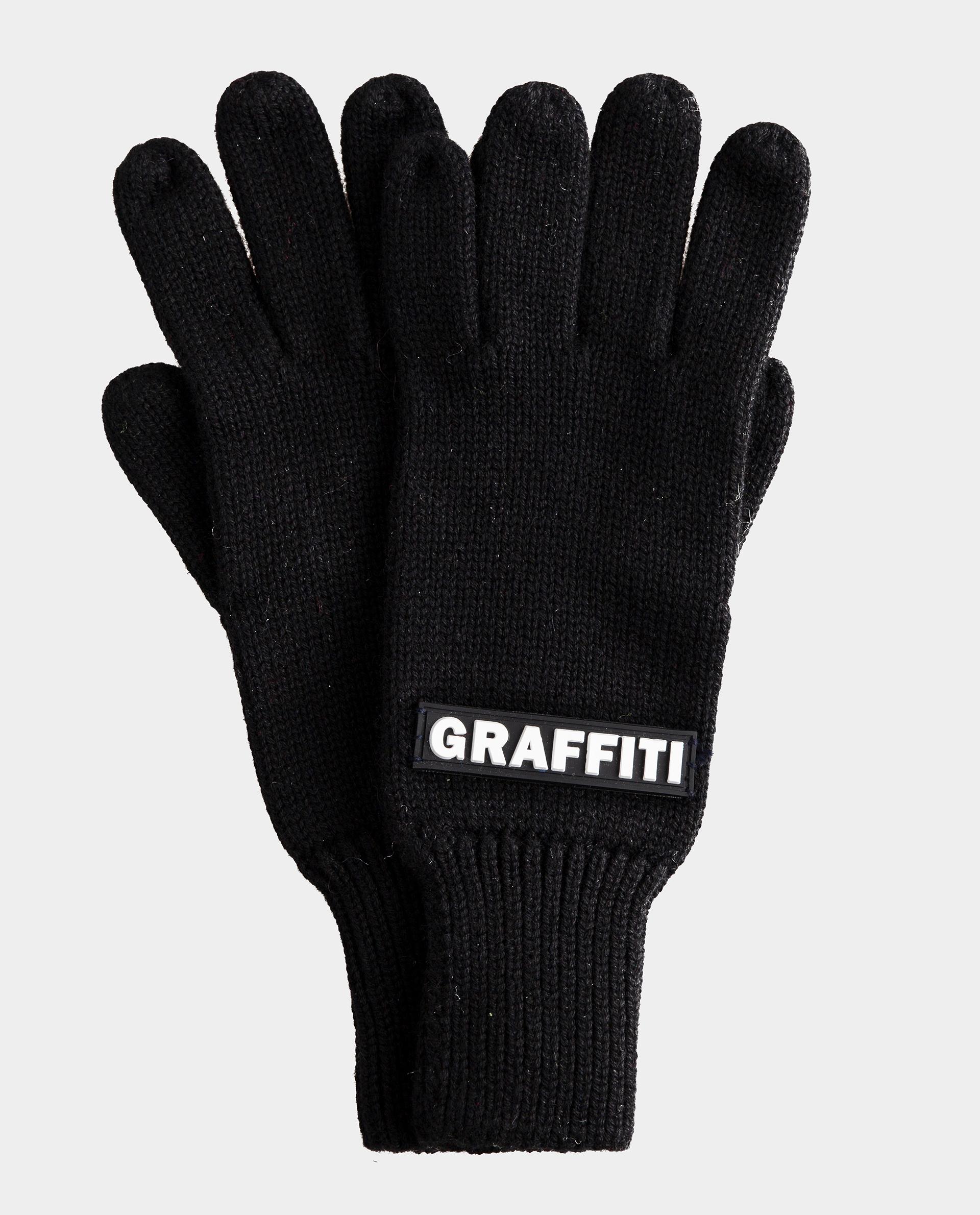 Черные перчатки вязаные Gulliver