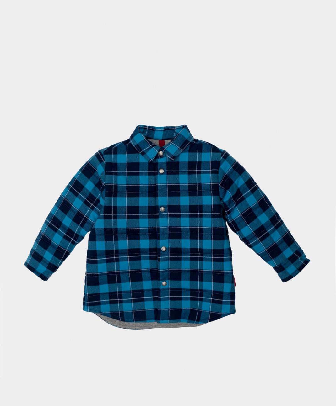 Gulliver Рубашка стеганая в клетку на кнопках Gulliver