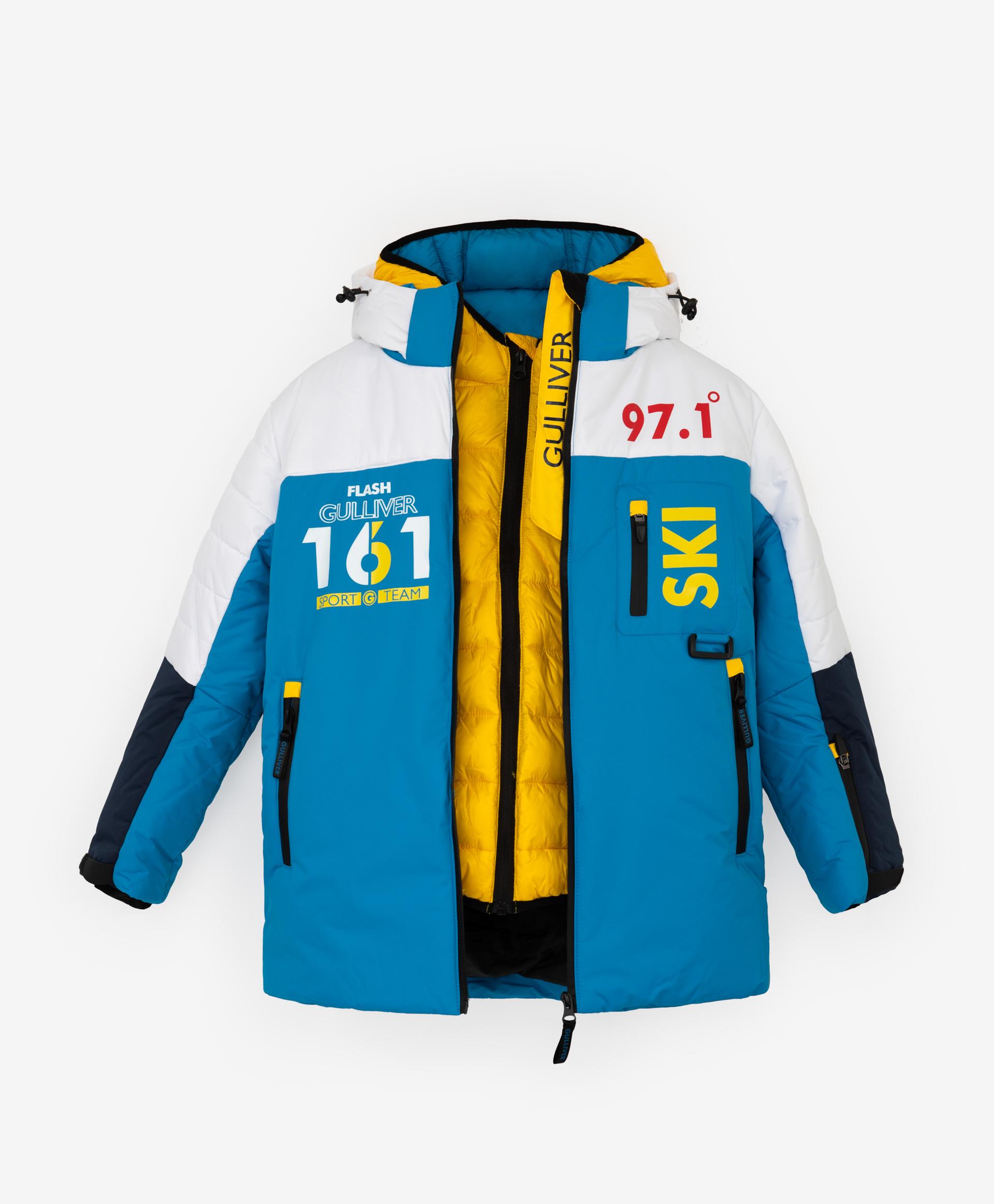 Купить 220FBC4102, Комплект: куртка верхняя и куртка нижняя Gulliver, мультицвет, 128, Полиэстер, Мужской, Зима, ОСЕНЬ/ЗИМА 2021-2022 (shop: GulliverMarket Gulliver Market)