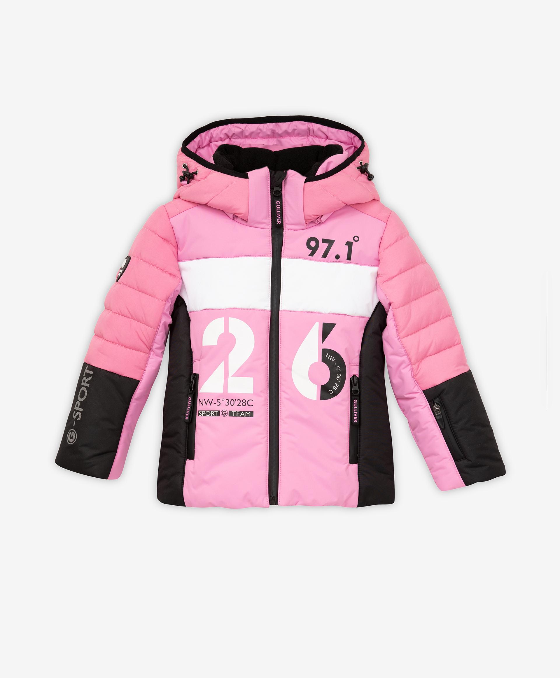 Купить 220FGC4104, Куртка зимняя с капюшоном Gulliver, розовый, Полиэстер, Женский, Зима, ОСЕНЬ/ЗИМА 2021-2022 (shop: GulliverMarket Gulliver Market)
