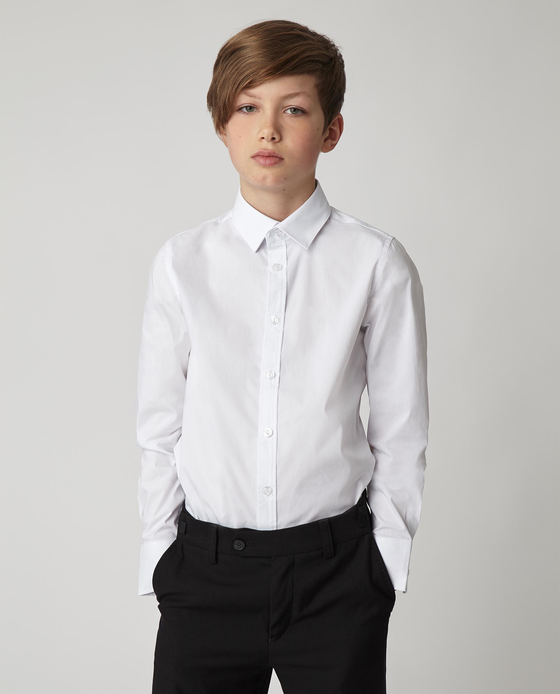 Купить 220GSBC2305, Белая рубашка Gulliver, белый, 170, Мужской, Демисезон, ШКОЛЬНАЯ ФОРМА 2020-2021 (shop: GulliverMarket Gulliver Market)