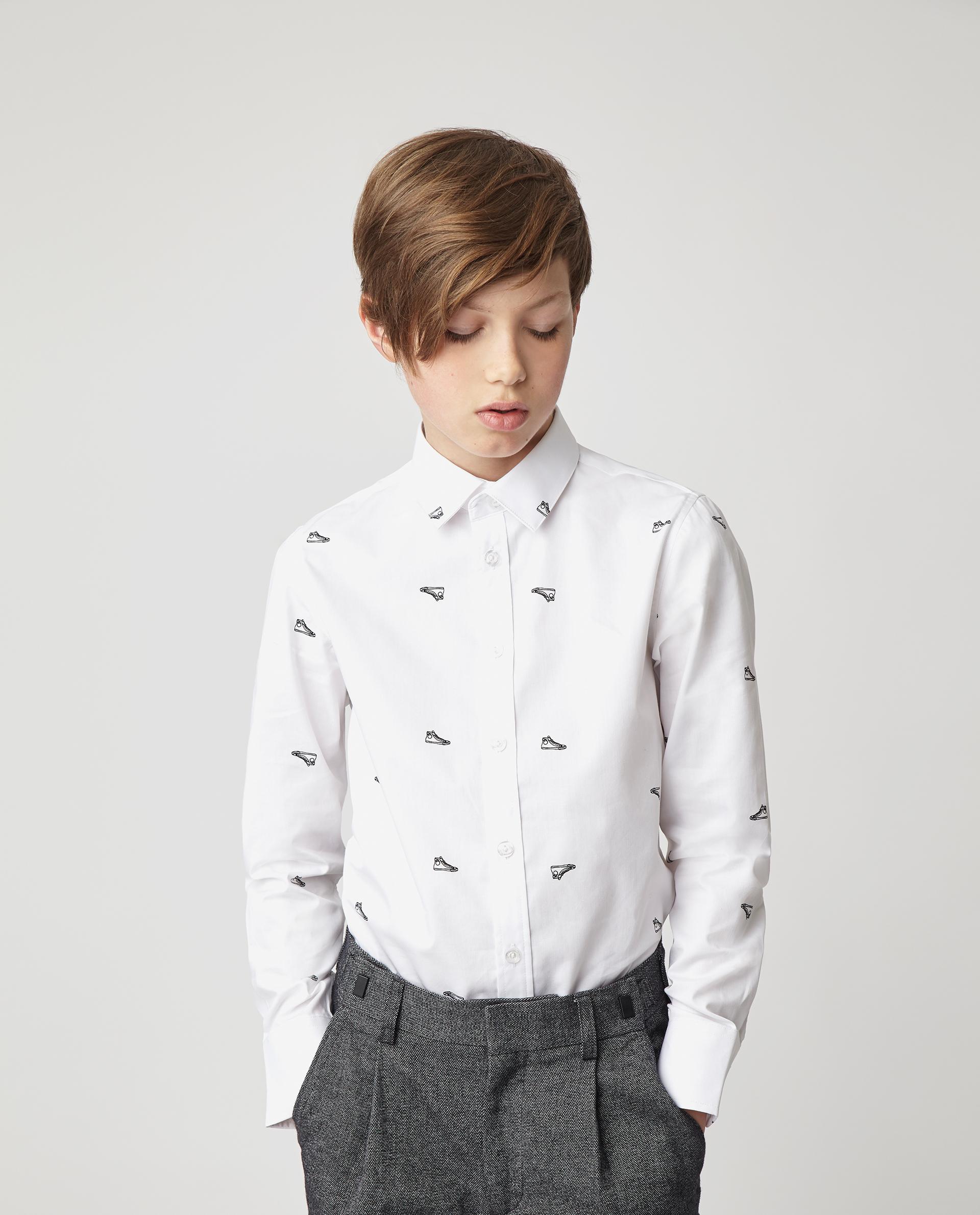 Купить 220GSBC2307, Белая рубашка с принтом Gulliver, белый, 170, Мужской, Демисезон, ШКОЛЬНАЯ ФОРМА 2020-2021 (shop: GulliverMarket Gulliver Market)