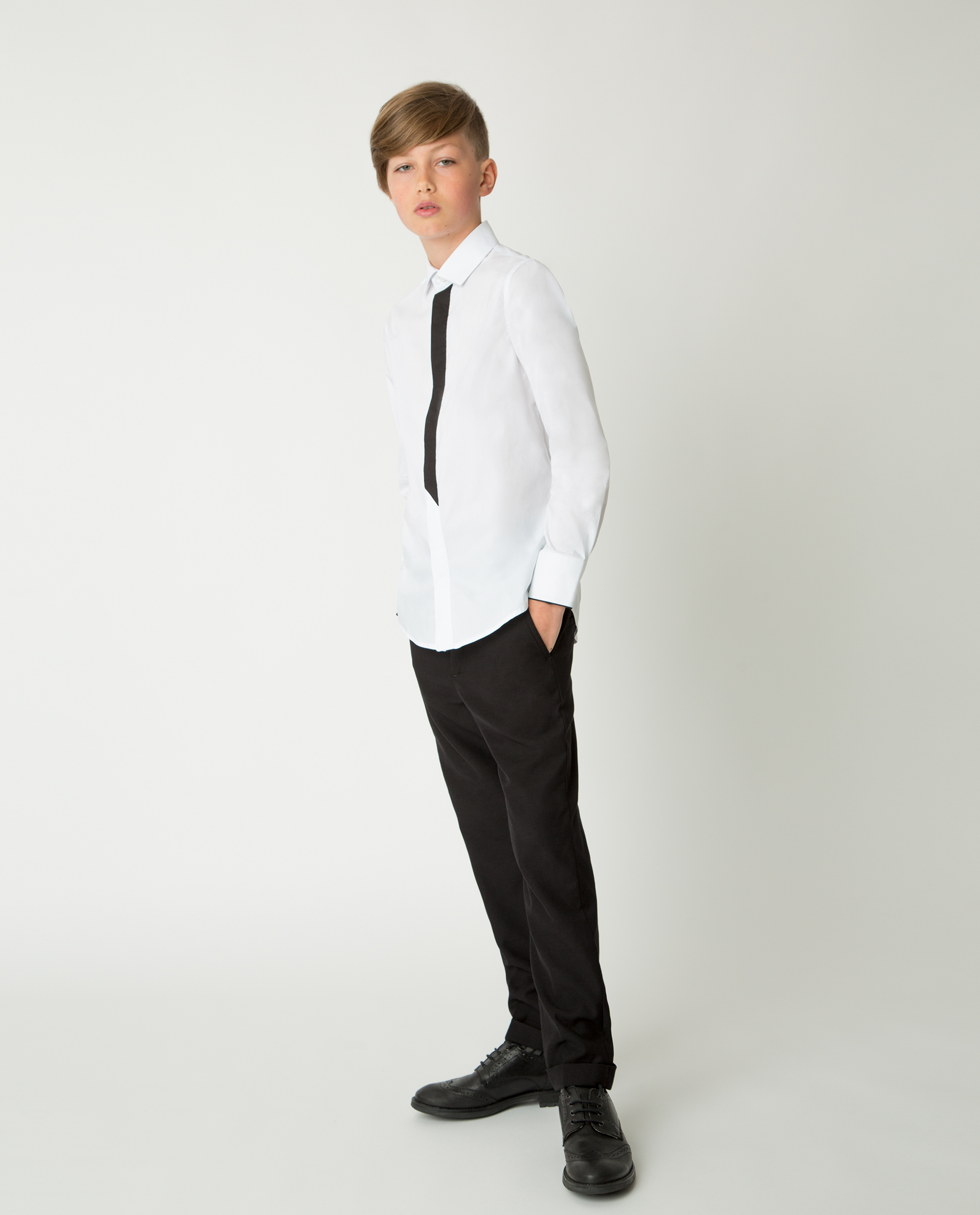 Купить 220GSBC2311, Белая рубашка Gulliver, белый, 170, Мужской, Демисезон, ШКОЛЬНАЯ ФОРМА 2020-2021 (shop: GulliverMarket Gulliver Market)
