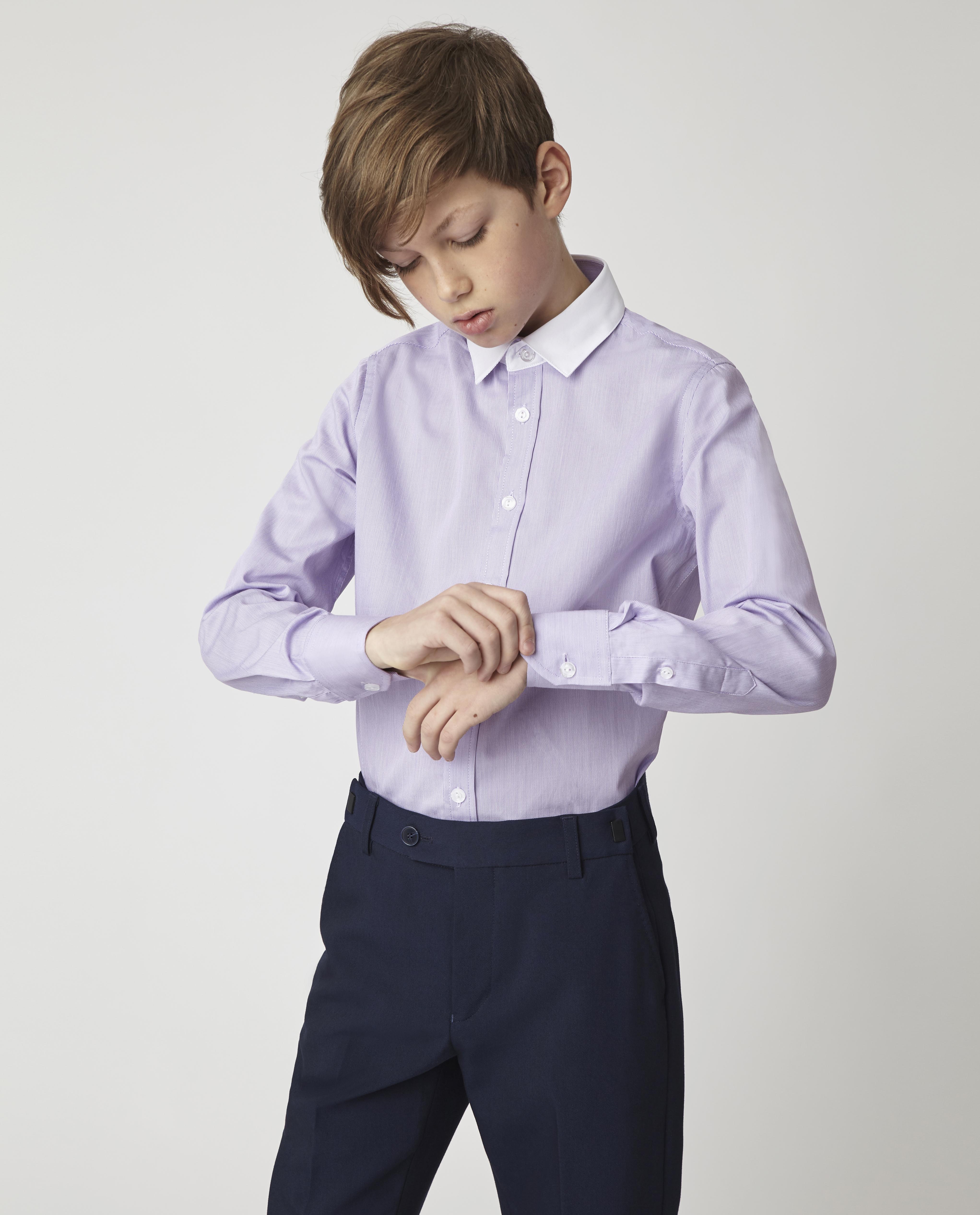 Купить 220GSBC2317, Сиреневая рубашка Gulliver, сиреневый, 170, Хлопок, Мужской, Демисезон, ШКОЛЬНАЯ ФОРМА 2020-2021 (shop: GulliverMarket Gulliver Market)