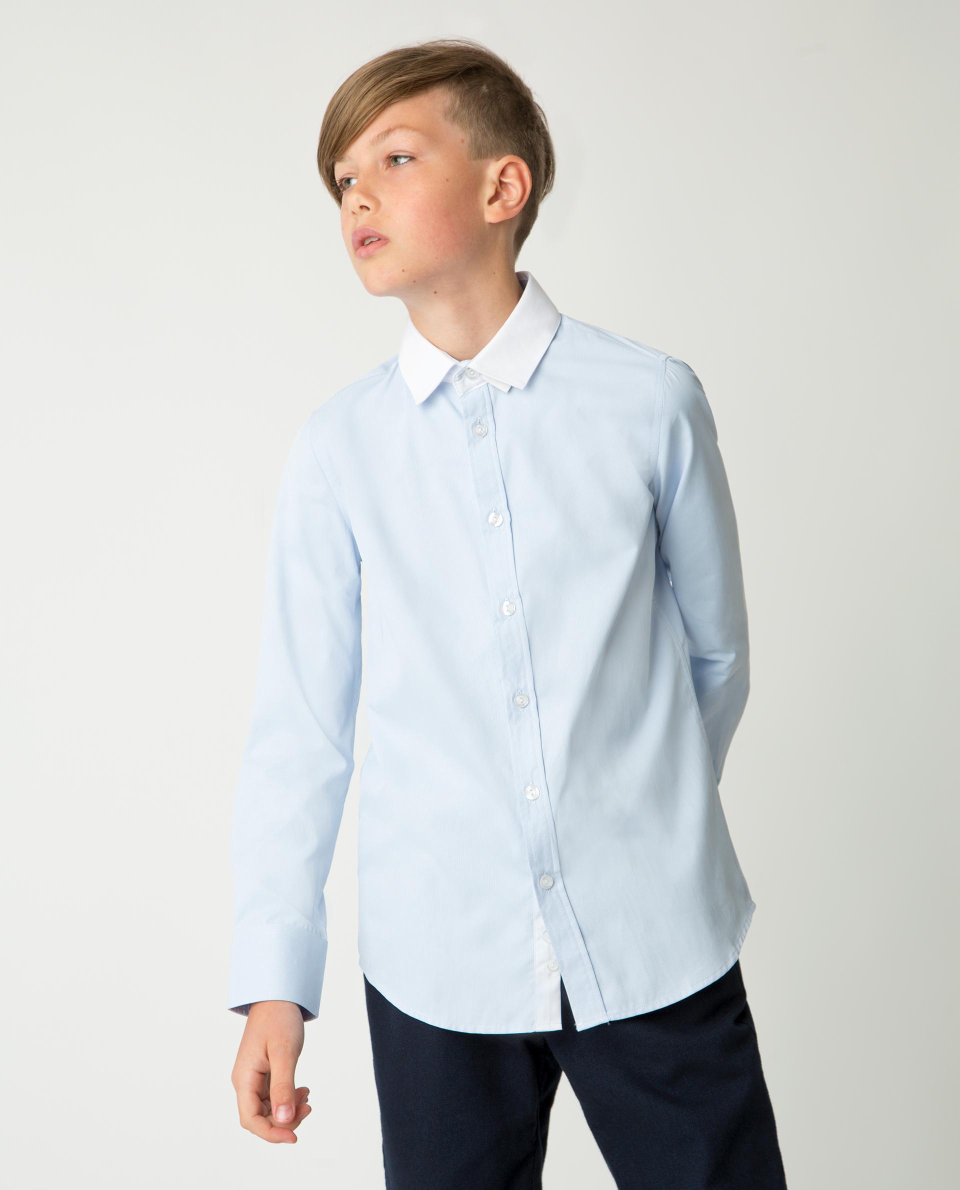 Купить 220GSBC2318, Голубая рубашка Gulliver, голубой, 122, Мужской, Демисезон, ШКОЛЬНАЯ ФОРМА 2020-2021 (shop: GulliverMarket Gulliver Market)