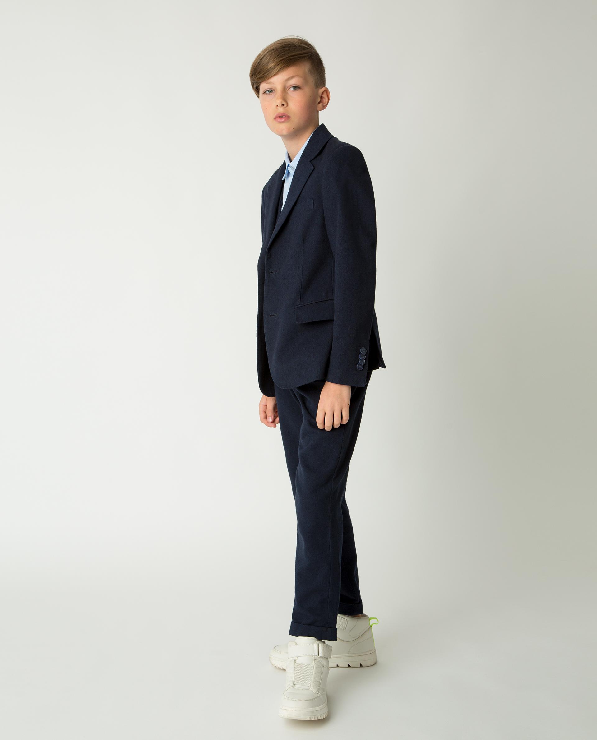 Купить 220GSBC4802, Синий пиджак Gulliver, синий, 146, Мужской, Демисезон, ШКОЛЬНАЯ ФОРМА 2020-2021 (shop: GulliverMarket Gulliver Market)