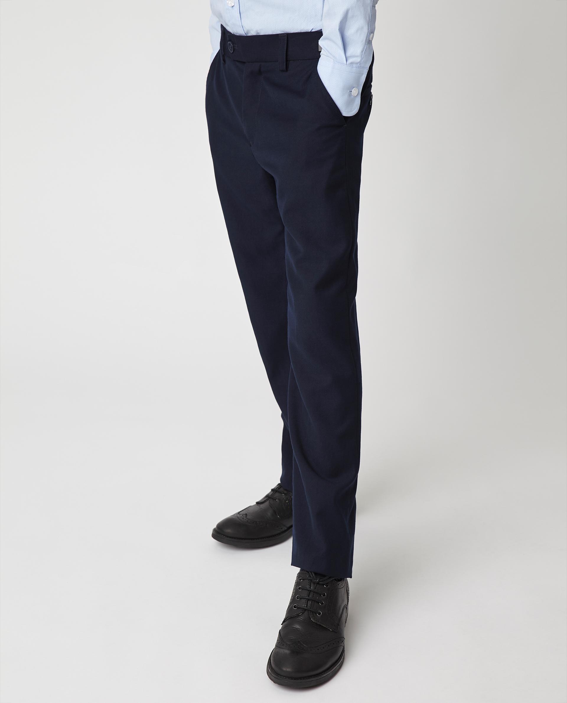 Купить 220GSBC6302, Синие брюки Gulliver, синий, 128, Мужской, Демисезон, ШКОЛЬНАЯ ФОРМА 2020-2021 (shop: GulliverMarket Gulliver Market)