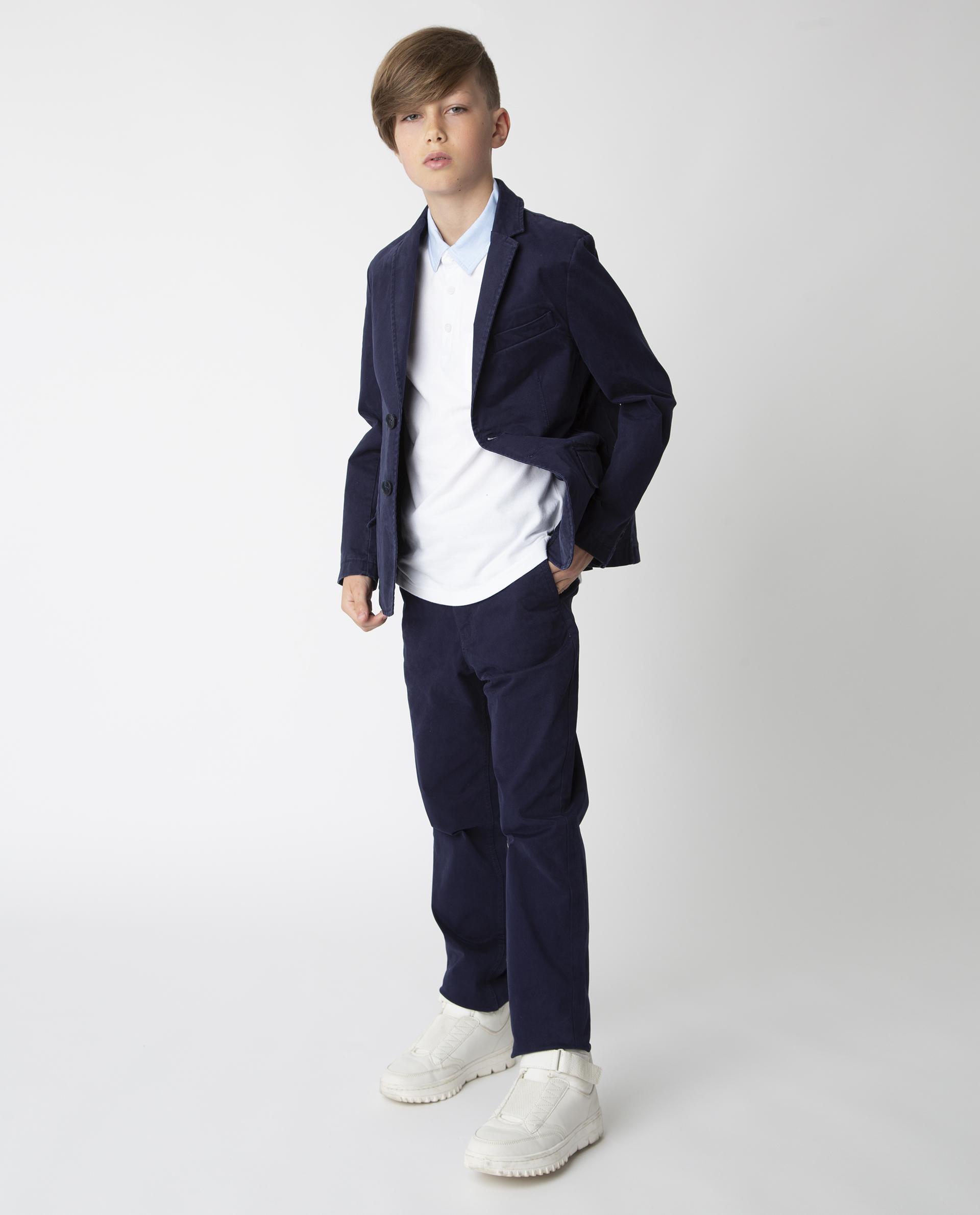 Купить 220GSBC6309, Синие брюки Gulliver, синий, 122, Твил, Мужской, Демисезон, ШКОЛЬНАЯ ФОРМА 2020-2021 (shop: GulliverMarket Gulliver Market)