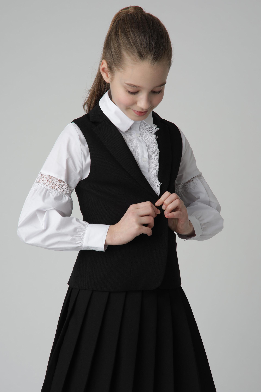Купить 220GSGC4705, Черный жилет Gulliver, черный, 170, Женский, Демисезон, ШКОЛЬНАЯ ФОРМА 2020-2021 (shop: GulliverMarket Gulliver Market)
