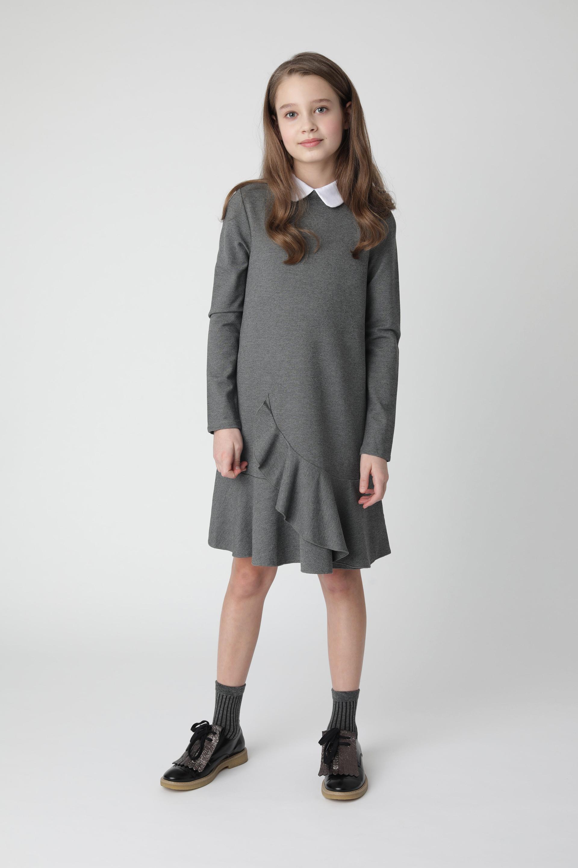 Купить 220GSGC5003, Серое платье из джерси Gulliver, серый, 146, Женский, Демисезон, ШКОЛЬНАЯ ФОРМА 2020-2021 (shop: GulliverMarket Gulliver Market)