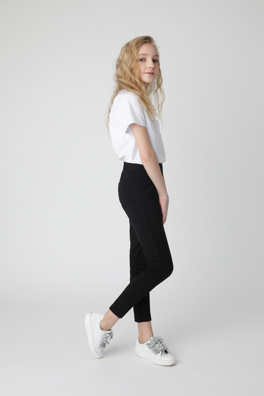 Купить 220GSGC5601, Черные брюки из джерси Gulliver, черный, 140, Женский, Демисезон, ШКОЛЬНАЯ ФОРМА 2020-2021 (shop: GulliverMarket Gulliver Market)