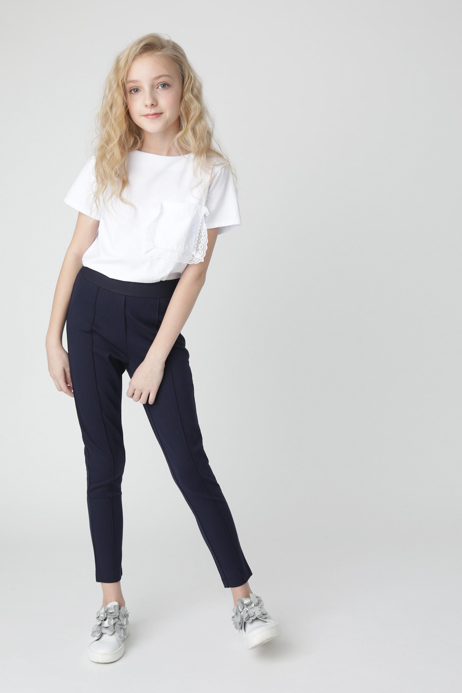 Купить 220GSGC5602, Синие брюки из джерси Gulliver, синий, 134, Женский, Демисезон, ШКОЛЬНАЯ ФОРМА 2020-2021 (shop: GulliverMarket Gulliver Market)