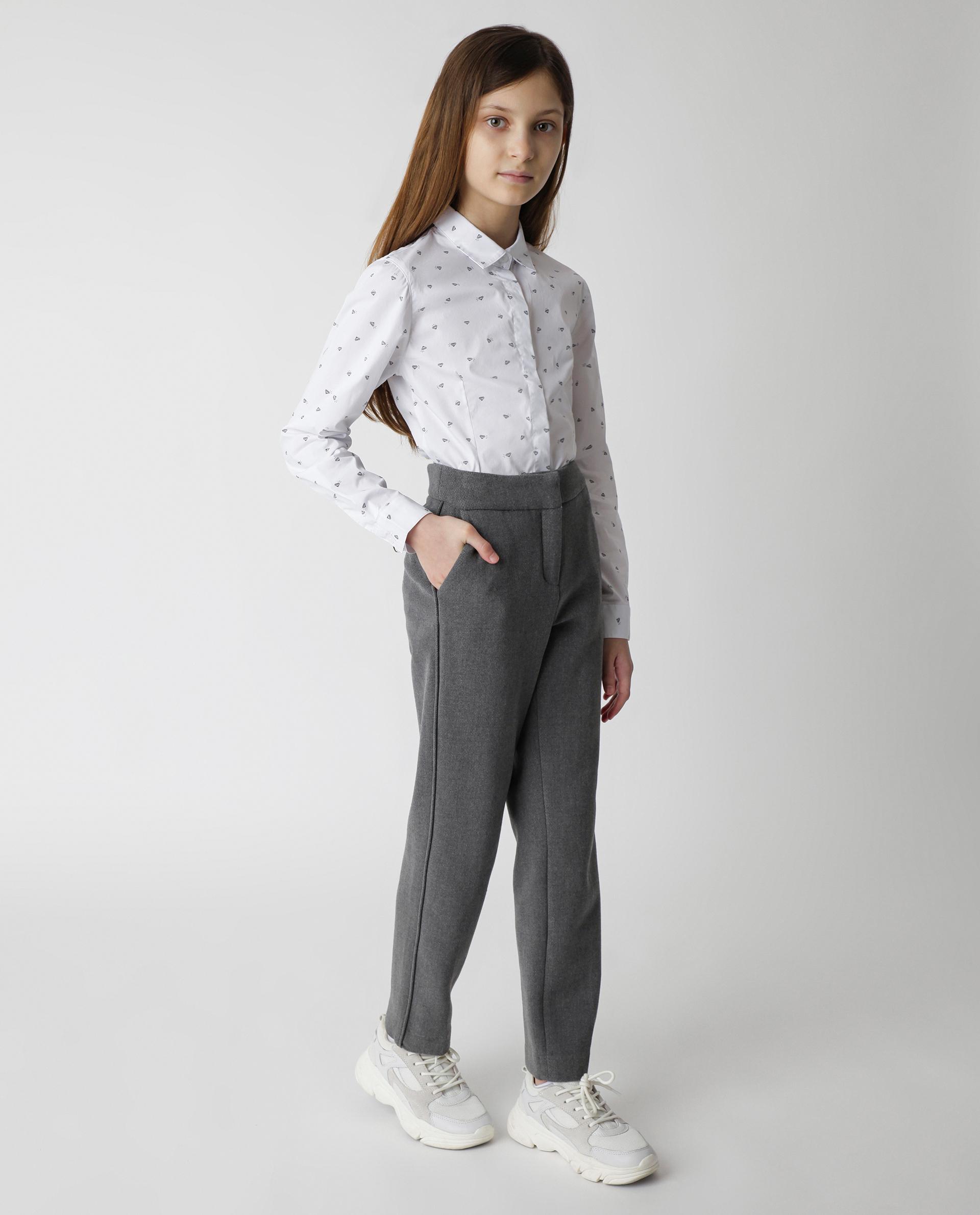 Купить 220GSGC6302, Серые брюки Gulliver, серый, 170, Женский, Демисезон, ШКОЛЬНАЯ ФОРМА 2020-2021 (shop: GulliverMarket Gulliver Market)