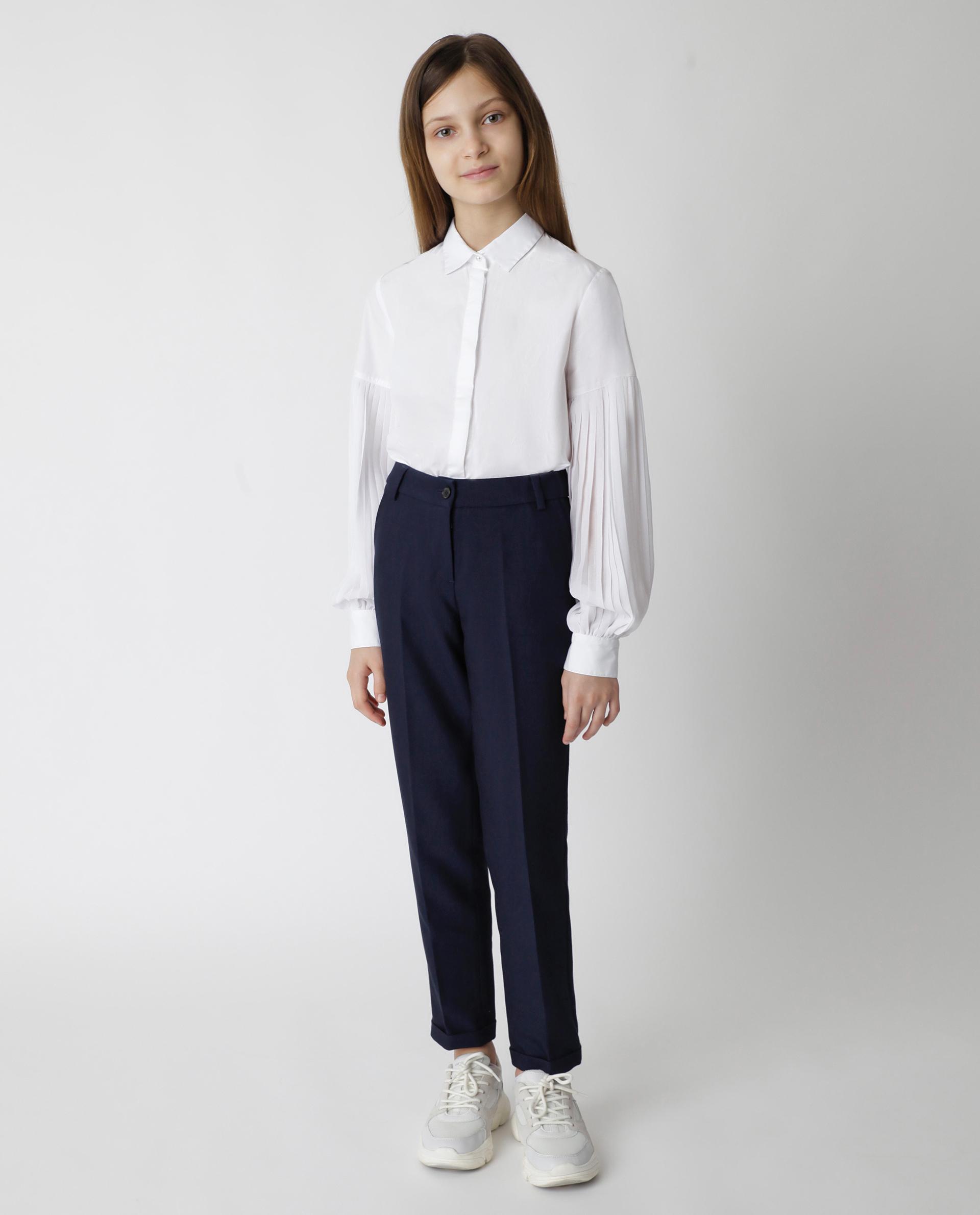 Купить 220GSGC6304, Синие брюки Gulliver, синий, 146, Женский, Демисезон, ШКОЛЬНАЯ ФОРМА 2020-2021 (shop: GulliverMarket Gulliver Market)