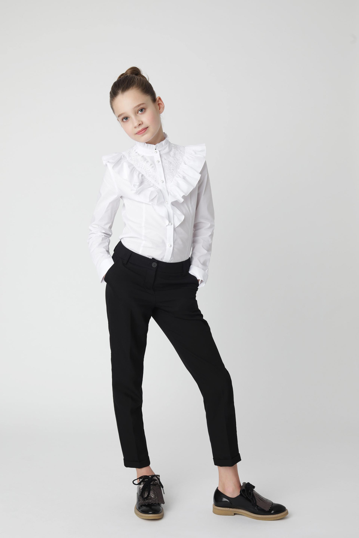 Купить 220GSGC6307, Черные брюки Gulliver, черный, 140, Женский, Демисезон, ШКОЛЬНАЯ ФОРМА 2020-2021 (shop: GulliverMarket Gulliver Market)