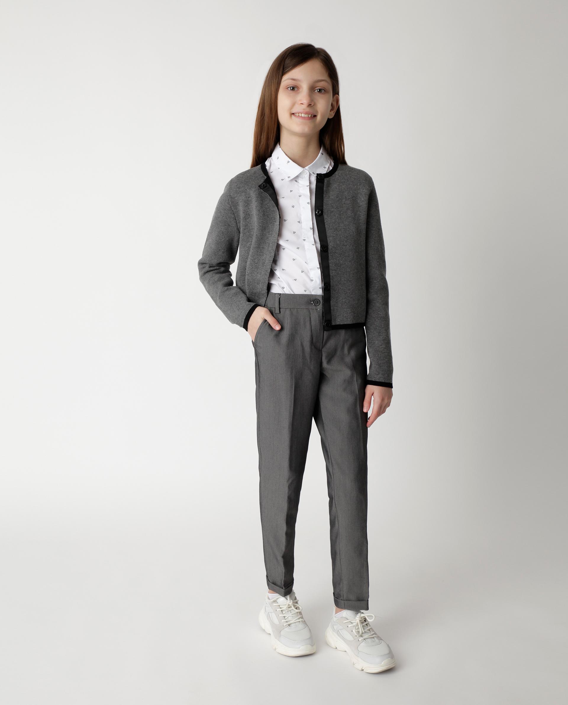 Купить 220GSGC6308, Серый брюки Gulliver, серый, 158, Женский, Демисезон, ШКОЛЬНАЯ ФОРМА 2020-2021 (shop: GulliverMarket Gulliver Market)