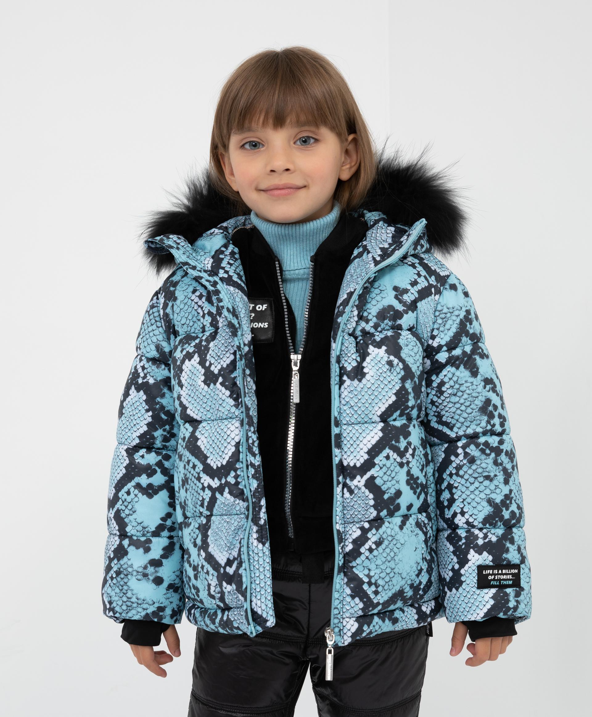 Купить 22101GMC4101, Куртка зимняя с капюшоном Gulliver, мультицвет, 128, Полиэстер, Женский, Зима, ОСЕНЬ/ЗИМА 2021-2022 (shop: GulliverMarket Gulliver Market)